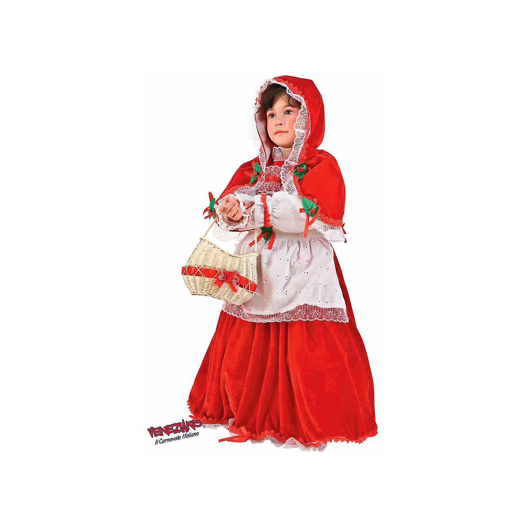 Карнавальный костюм Красная шапочка, 2 года (на рост 92 см), VenezianoКарнавальные костюмы и аксессуары<br>Карнавальный костюм Красная шапочка, 2 года, Veneziano (Венециано) – яркий, красивый итальянский костюм для Вашей малышки, который выполнен из высококачественных материалов. Этот костюм полностью укомплектован аксессуарами, что позволит целиком погрузиться в атмосферу сказки и волшебства. <br><br>Комплектация:<br>- платье с подъюбником<br>- накидка с капюшоном<br>-фартук<br>- корзинка<br><br>Дополнительная информация:<br>- на рост 92 см<br>- Материал: бархат, кружево<br>- Упаковка: красивая подарочная коробка<br><br>Карнавальный костюм Красная шапочка, 2 года, Veneziano (Венециано) сделает Вашу маленькую девочку главной героиней праздника. <br><br>Карнавальный костюм Красная шапочка, 2 года, Veneziano (Венециано) можно купить в нашем магазине.<br><br>Ширина мм: 300<br>Глубина мм: 80<br>Высота мм: 400<br>Вес г: 500<br>Возраст от месяцев: 24<br>Возраст до месяцев: 36<br>Пол: Женский<br>Возраст: Детский<br>SKU: 3487401