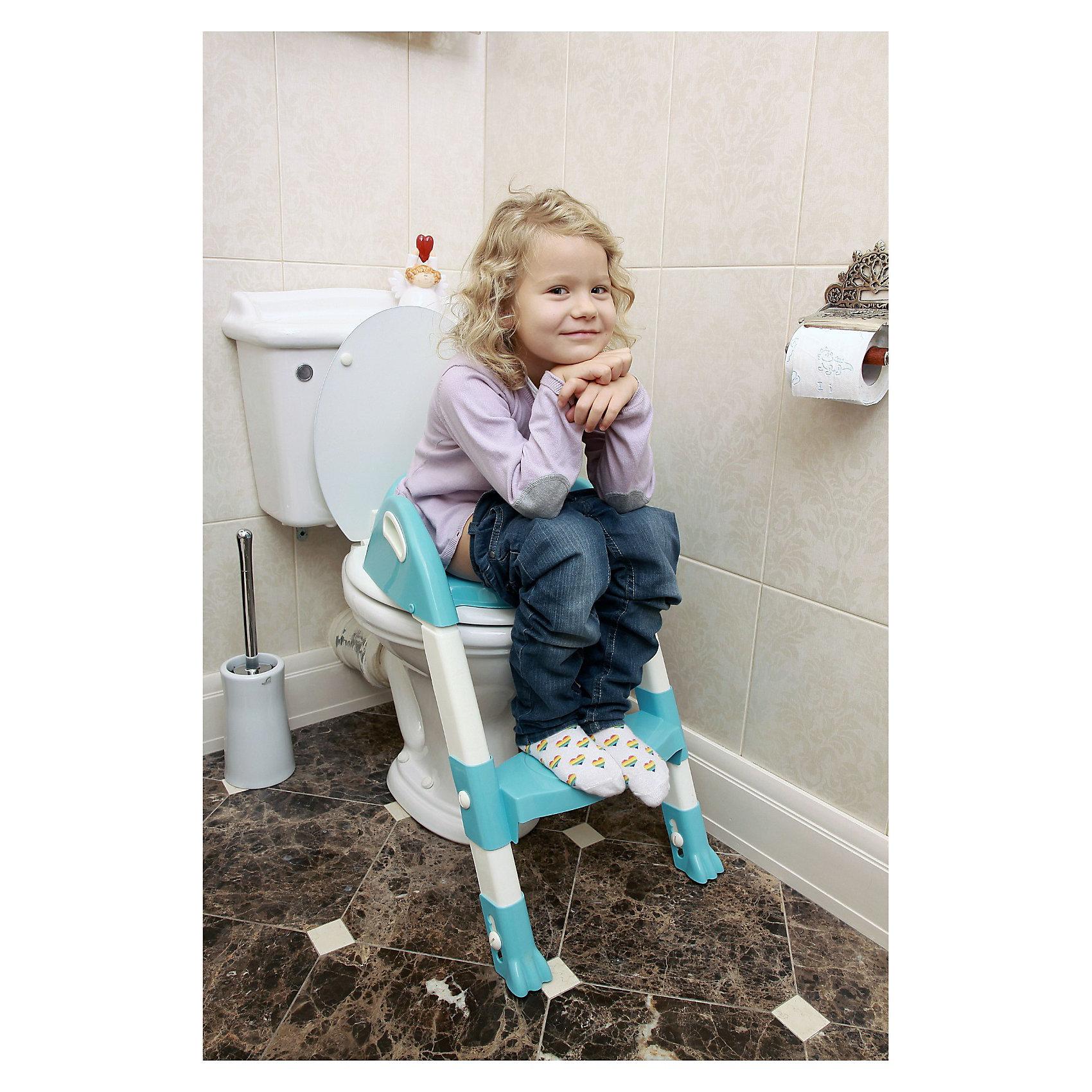 Насадка на унитаз со ступенькой ROXY-KIDS, голубойГоршки, сиденья для унитаза, стульчики-подставки<br>Насадка на унитаз со ступенькой ROXY-KIDS (РОКСИ-КИДС) - это удобное устройство специально для детей от двух лет. <br><br>Благодаря ему ребенок легко отучится от горшка и быстро научится пользоваться туалетом самостоятельно.<br><br>Особенности:<br>-Ступенька с антискользящим покрытием и со специальными ручками, что позволит малышу пользоваться туалетом с максимальным удобством и безопасностью<br>-Легко собирается и разбирается для транспортировки                                                           <br>-Ножка насадки также оснащена надежными антискользящими креплениями для дополнительной устойчивости<br><br>Дополнительная информация:<br><br>-Размер: 59х37х23 см<br>-Материал: высококачественный пластик<br><br>Насадка на унитаз понравится тем деткам, которые хотят, подражая взрослым, самостоятельно ходить в туалет. Удобная насадка на унитаз и ступенька позволят малышам отказаться от детского горшка и почувствовать себя старше и взрослее.<br><br>Насадку на унитаз со ступенькой ROXY-KIDS (РОКСИ-КИДС) можно купить в нашем магазине.<br><br>Ширина мм: 440<br>Глубина мм: 620<br>Высота мм: 375<br>Вес г: 700<br>Возраст от месяцев: 24<br>Возраст до месяцев: 60<br>Пол: Унисекс<br>Возраст: Детский<br>SKU: 3503621