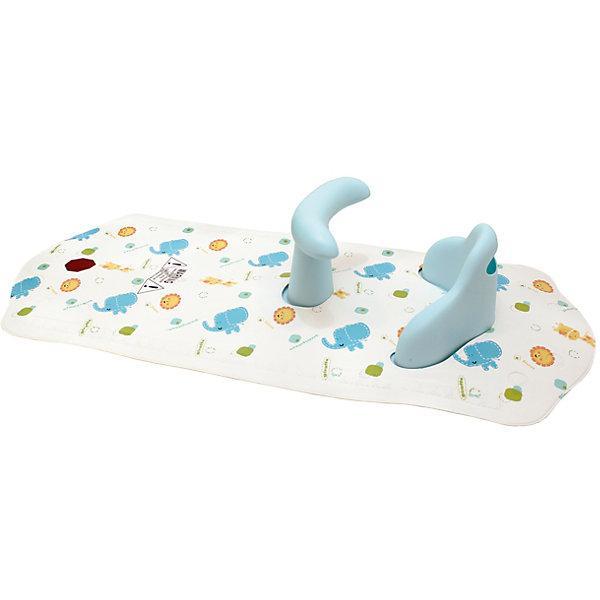 Коврик для ванной со съемным стульчиком ROXY-KIDS, СлоненокДетские коврики для ванны<br>Коврик для ванной со съемным стульчиком ROXY-KIDS (РОКСИ-КИДС)обеспечит безопасность малыша во время купания и станет незаменимым помощником маме и папе. Это уникальное приспособление обладает всеми преимуществами стульчиков, но при этом оно гораздо более удобное в применении.<br><br>Особенности:<br>-У стульчика есть поручень спереди, за который ребенок может держаться<br>-Снабжен индикатором «TOO HOT» (Слишком горячо), если вода в ванной слишком горячая для ребенка, он окрасится в красный цвет <br>-Сиденье снимается на тот случай, если возникнет желание пользоваться ковриком без стульчика, а также для удобства очистки изделий<br>-Анатомическая конструкция стульчика делает его максимально комфортным для любого малыша <br>-Стульчик вставлен в специальные отверстия в коврике, который крепится ко дну ванны благодаря присоскам, расположенным на его ножках<br>-Антискользящее покрытие проявляет ещё больше заботы о безопасности крохи во время купания<br><br>Дополнительная информация:<br><br>- Размер коврика: 40х91,4 см<br>- Материал: гипоаллергенные резина, ПВХ<br>- Комплектация: стульчик, коврик<br><br>С использованием коврика для ванной со съемным стульчиком Roxy-Kids (Рокси-Кидс) родителям совсем не обязательно во время купания все время держать ребенка, достаточно находиться рядом.<br><br>Коврик для ванной со съемным стульчиком ROXY-KIDS (РОКСИ-КИДС) Слоненок  можно купить в нашем магазине.<br>Ширина мм: 600; Глубина мм: 400; Высота мм: 400; Вес г: 600; Возраст от месяцев: 7; Возраст до месяцев: 36; Пол: Унисекс; Возраст: Детский; SKU: 3503622;