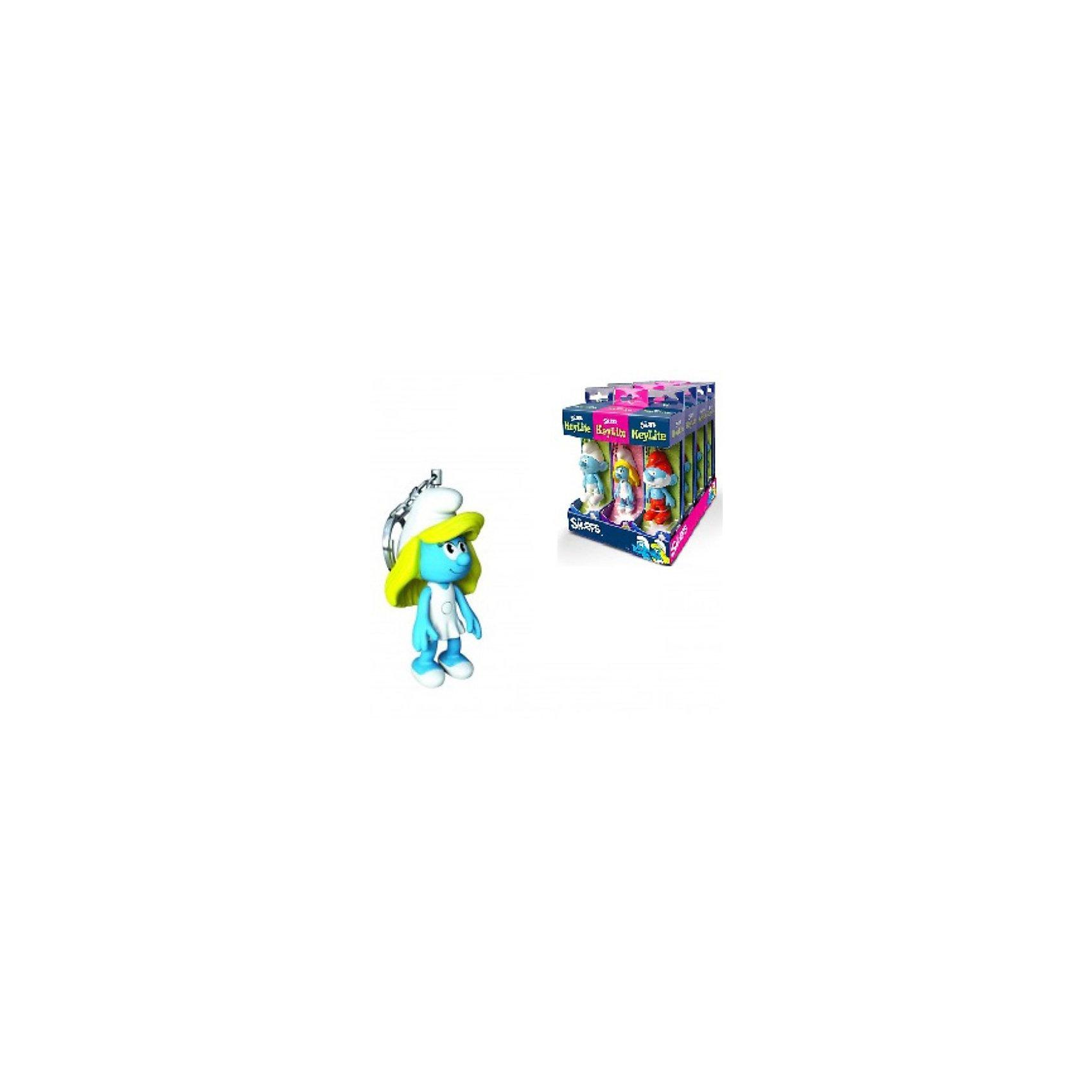Брелок-фонарик для ключей СмурфеттаБрелок-фонарик для ключей Смурфетта (The Smurfs) - стильный брелок-фонарик станет отличным подарком для поклонников сказочных гномиков Смурфов.<br>Оригинальный брелок-фонарик изготовлен в виде фигурки Смурфетты. Удобная кнопка включения и выключения позволяет играть с брелоком и без опасения тратить заряд. Брелок-фонарик с подвижными руками и ногами обязательно завоюет сердце малыша! Металлическое крепление для ключей входит в комплект.<br><br>Дополнительная информация:<br><br>-Батарейки: 2хCR2025 (входят в комплект)<br>-Материал: пластик, металл<br>-Высота фигурки: 7 см.<br>-Возраст: от 5 лет<br><br>Брелок-фонарик для ключей Смурфетта можно купить в нашем интернет-магазине.<br><br>Ширина мм: 50<br>Глубина мм: 50<br>Высота мм: 170<br>Вес г: 53<br>Возраст от месяцев: 36<br>Возраст до месяцев: 144<br>Пол: Женский<br>Возраст: Детский<br>SKU: 3514701