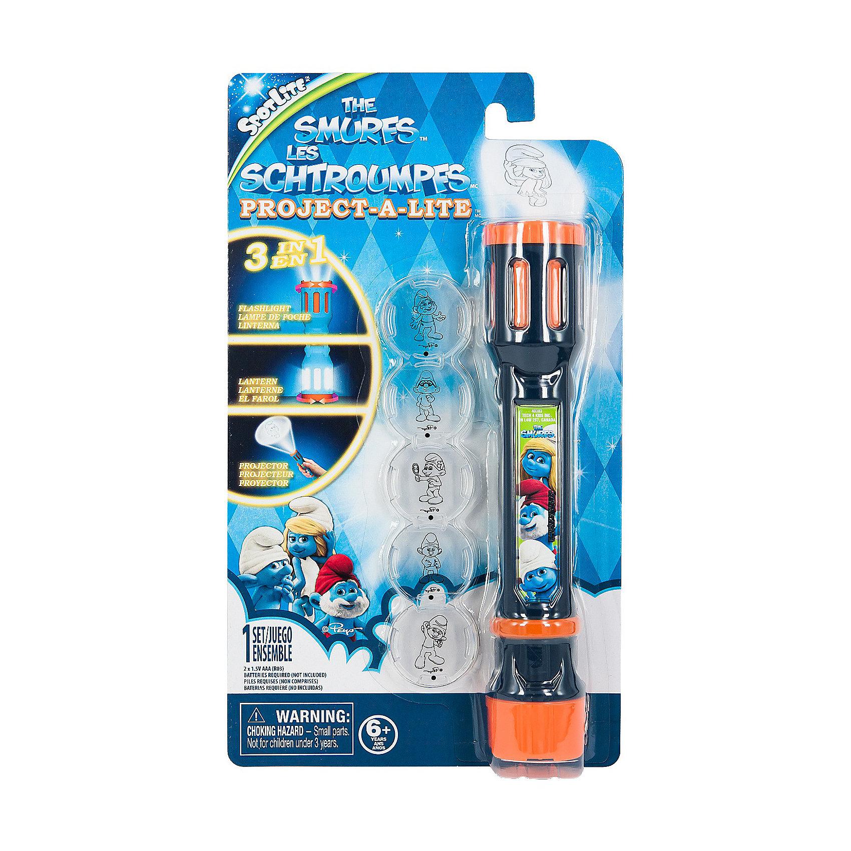 Детское время Фонарик-проектор 3 в 1, The Smurfs фонарик проектор transformers фонарик проектор