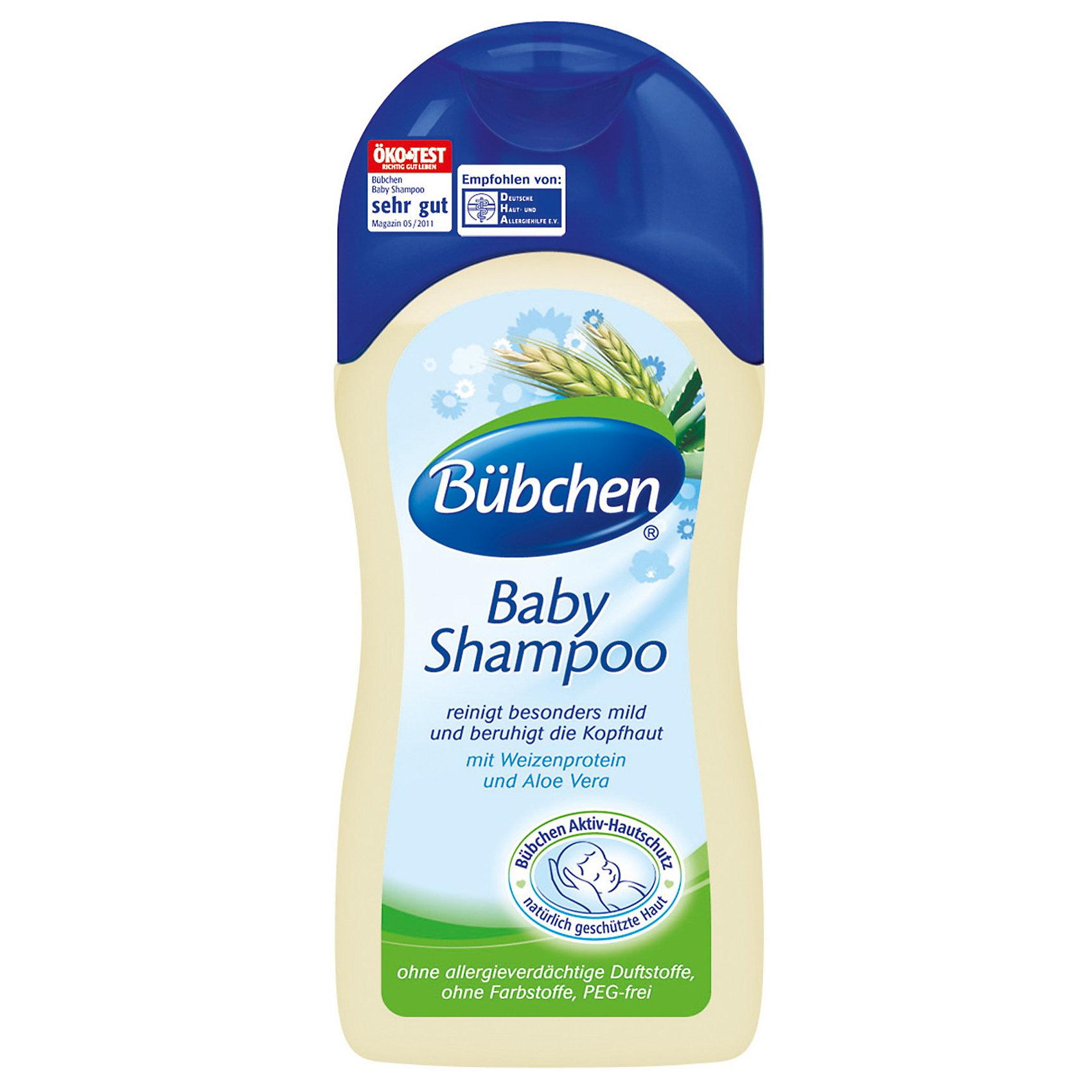 Шампунь для младенцев, BUBCHEN , 200 мл.Шампунь для младенцев, BUBCHEN , 200 мл. – мягкое очищение волос без раздражения глаз.<br>Благодаря составу шампуня вы можете быть уверены, что мытье нежной кожи головы пройдет без проблем. Алоэ Вера, в совокупности с пантенолом и экстрактом ромашки, смягчает кожу, устраняя раздражение. Шампунь не содержит мыла и благодаря пшенице в составе легко удаляет молочные корочки на голове новорожденного. Такой шампунь абсолютно безвреден, ведь его состав разрабатывался с опытными педиатрами и дерматологами, поэтому его можно использовать с самого рождения.<br><br>Дополнительная информация:<br>- состав: экстракт ромашки, пантенол, Алоэ Вера<br>- объем: 200 мл<br>- срок годности 2 года<br>- производитель Бюбхен, Германия<br><br>Шампунь для младенцев, BUBCHEN , 200 мл. можно купить в нашем интернет магазине.<br><br>Ширина мм: 168<br>Глубина мм: 68<br>Высота мм: 41<br>Вес г: 241<br>Возраст от месяцев: 0<br>Возраст до месяцев: 48<br>Пол: Унисекс<br>Возраст: Детский<br>SKU: 3515341