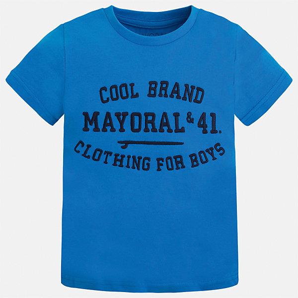 Футболка для мальчика MayoralФутболки, поло и топы<br>Характеристики товара:<br><br>• цвет: зеленый<br>• состав: 100% хлопок<br>• круглый горловой вырез<br>• принт впереди<br>• короткие рукава<br>• страна бренда: Испания<br><br>Стильная футболка с принтом поможет разнообразить гардероб мальчика. Она отлично сочетается с брюками, шортами, джинсами и т.д. Универсальный крой и цвет позволяет подобрать к вещи низ разных расцветок. Практичное и стильное изделие! В составе материала - только натуральный хлопок, гипоаллергенный, приятный на ощупь, дышащий.<br><br>Одежда, обувь и аксессуары от испанского бренда Mayoral полюбились детям и взрослым по всему миру. Модели этой марки - стильные и удобные. Для их производства используются только безопасные, качественные материалы и фурнитура. Порадуйте ребенка модными и красивыми вещами от Mayoral! <br><br>Футболку для мальчика от испанского бренда Mayoral (Майорал) можно купить в нашем интернет-магазине.<br>Ширина мм: 199; Глубина мм: 10; Высота мм: 161; Вес г: 151; Цвет: зеленый; Возраст от месяцев: 18; Возраст до месяцев: 24; Пол: Мужской; Возраст: Детский; Размер: 92,98,110,116,122,128,104,134; SKU: 3516067;