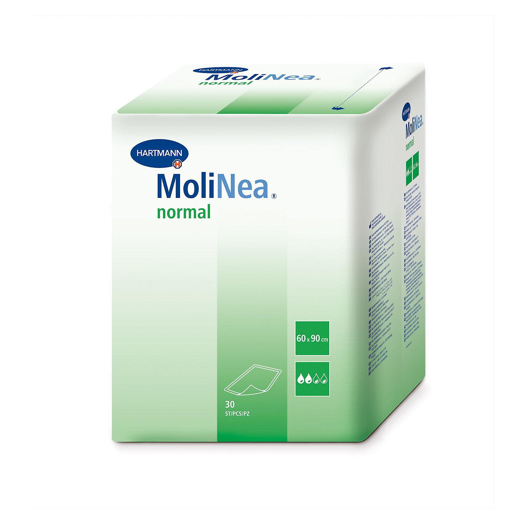 Детские впитывающие пеленки MoliNea Normal, 60х90 см., 30 штОдноразовые пеленки<br>Детские впитывающие пеленки MoliNea Normal, 60х90 см. используются для дополнительной защиты постельного белья и других поверхностей, при проведении гигиенических и диагностических процедур, ежедневного ухода за ребенком. Обеспечивают максимальную степень впитываемости.<br>Использование экологически чистых и высококачественных материалов позволяет применять одноразовые впитывающие пеленки MoliNea Normal не только в домашних условиях, но и в лечебных учреждениях для проведения гигиенических и диагностических процедур. Края пеленок, завернутые внутрь, предотвращают протекание. Одноразовые впитывающие пеленки MoliNea Normal совершенно безопасны для здоровья и прошли дерматологический контроль. Нижняя сторона является полностью влагонепроницаемой.<br>Уникальная впитываемость и гигиеничность!<br><br>Дополнительная информация:<br><br>- гипоаллергенный;<br>- эффективно впитывают влагу, оставляя кожу малыша сухой и здоровой;<br>- состоят из  четырех эффективных слоев, обеспечивающих защиту от протекания;<br>- удобны в использовании: не скользят;<br>- могут использоваться в медицинских учреждениях;<br>- структура поверхности гарантирует равномерное впитывание;<br>- мягкий гипоаллергенный нетканый материал не повредит нежную кожу ребенка;<br>-большая пачка позволит существенно сэкономить семейный бюджет;<br>- стандартный размер подойдет, как для детских стульчиков, кроваток, так и для массажа и воздушных ванн;<br>- впитываемость: 980 мл;<br>- состав: целлюлоза, нетканый материал, нетоксичный полиэтилен.<br>- Размер: 60 х 90 см<br>- В упаковке 30 шт.<br><br>Позвольте себе полный комфорт! <br>Детские впитывающие пеленки MoliNea Normal 60х90 см., 30 шт можно купить в нашем интернет - магазине.<br><br>Ширина мм: 251<br>Глубина мм: 195<br>Высота мм: 330<br>Вес г: 1700<br>Возраст от месяцев: -2147483648<br>Возраст до месяцев: 2147483647<br>Пол: Унисекс<br>Возраст: Детский<br>SKU: 3517525