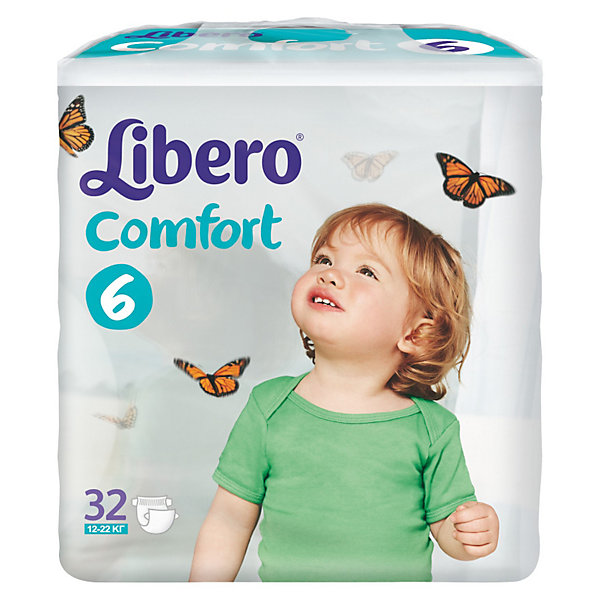 Подгузники Libero Comfort, XL 12-22 кг (6), 32 шт.Подгузники классические<br>Ультратонкие и мягкие подгузники с плотным абсорбционным слоем Libero Comfort (Либеро Комфорт), изготовленные из натуральных материалов, предотвращают возникновение сыпи и зуда, а также сохраняют кожу сухой в течение 12 часов. Широкие тянущиеся боковинки и эластичный поясок обеспечивают комфортное прилегание и защищают от протеканий. Мягкие барьерчики анатомической формы вокруг ножек не натирают нежную кожу, а микроскопические отверстия обеспечивают циркуляцию воздуха, чтобы попка не сопрела. На поясе расположен цветной индикатор, который поможет подобрать памперс по размеру: в правильном положении застежки должны находиться по центру.<br><br>Дополнительная информация:<br><br>- Размер: 6, XL 12-22 кг<br>- В упаковке: 32 шт. <br><br>Подгузники Libero Comfort (Либеро Комфорт), XL 12-22 кг (6), 32 шт. можно купить в нашем интернет-магазине.<br><br>Ширина мм: 127<br>Глубина мм: 240<br>Высота мм: 240<br>Вес г: 1278<br>Возраст от месяцев: 12<br>Возраст до месяцев: 72<br>Пол: Унисекс<br>Возраст: Детский<br>SKU: 3517618