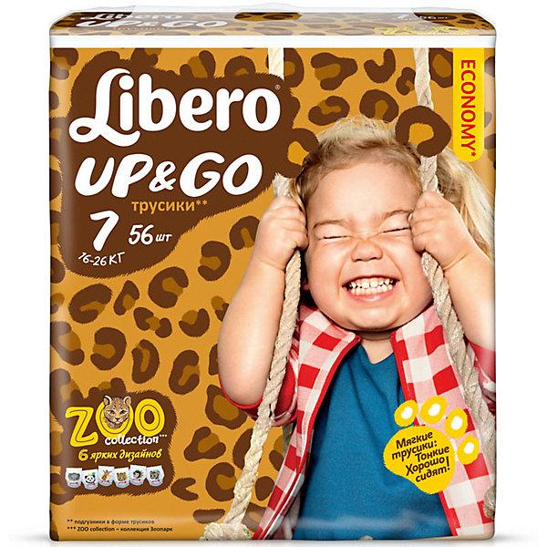 Трусики Up&amp;Go, XL Plus 16-26 кг (7), 12 шт., LiberoТрусики-подгузники<br>Характеристики:<br><br>• вес ребёнка: 16-26кг.;<br>• дышащий материал быстро впитывает влагу;<br>• эластичный пояс;<br>• количество в упаковке: 12шт.;<br>• для детей в возрасте: от 3 лет;<br>• вес упаковки: 1.2кг;<br>• упаковка: пакет;<br>• страна бренда: Швеция.<br><br>Трусики-подгузники «Libero Up&amp;Go» (Либеро Ап Энд Гоу) XL Plus станут отличным приобретением для самых маленьких детишек. Они созданы из высококачественных, экологически чистых материалов, что очень важно для детских товаров.<br><br> В удобных подгузниках похожих на трусики малыш будет сухо и комфортно себя чувствовать, особенно во время подвижных игр и долгих прогулок. Дышащий нетканый материал быстро впитывает влагу с помощью специальных гранул и специально создан для нежной кожи. Трусики плотно прилегают с помощью эластичного пояска.  <br>                       <br>Используя трусики « Libero»(Либеро) мамы подарят малышам уют и спокойствие на долгое время.<br><br>Трусики «Libero Up&amp;Go» (Либеро Ап Энд Гоу) XL Plus можно купить в нашем интернет-магазине.<br>Ширина мм: 147; Глубина мм: 195; Высота мм: 205; Вес г: 554; Возраст от месяцев: 24; Возраст до месяцев: 84; Пол: Унисекс; Возраст: Детский; SKU: 3517643;
