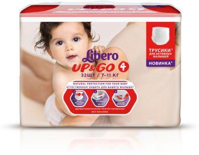 Трусики Libero Up&Go, Maxi 7-11кг (4), 32 шт. фото-1