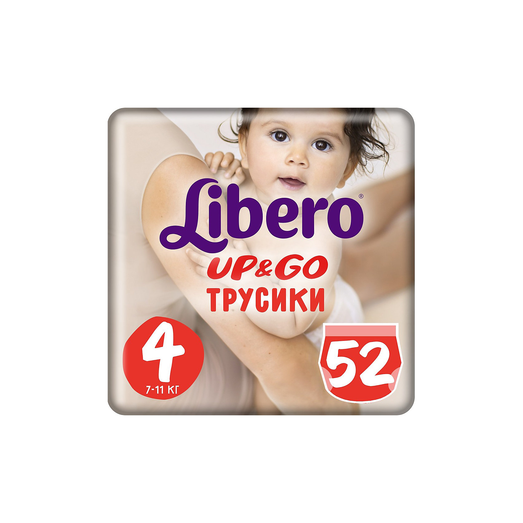 Libero Трусики Up&Go, Mega Maxi 7-11 кг (4), 52 шт., Libero трусики libero up