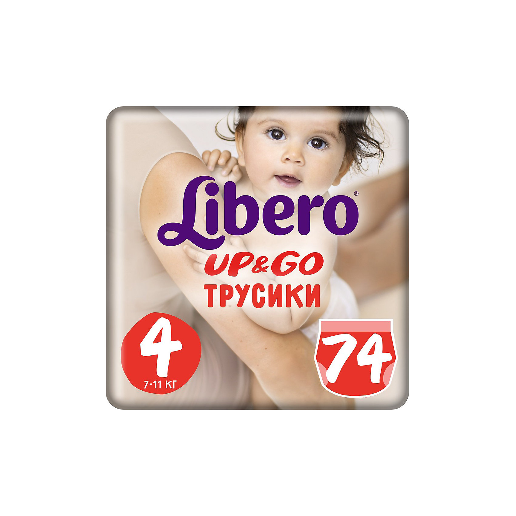 Libero Трусики Up&Go, Giga Maxi 7-11 кг (4), 74 шт., Libero libero подгузники трусики up