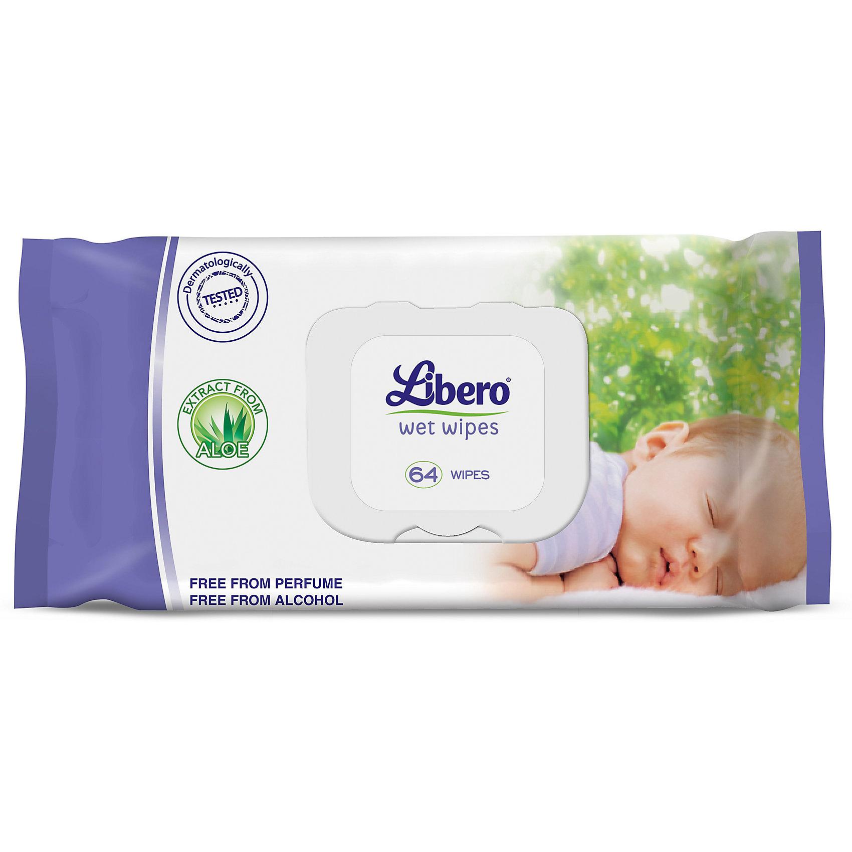 Влажные салфетки Libero с Алоэ, сменный блок, 64 шт.Влажные салфетки Libero Wet Wipes сменный блок, 64 шт.<br><br>Характеристики:<br><br>• содержат экстракт алоэ<br>• бережно очищают кожу малыша<br>• не вызывают раздражения<br>• размер упаковки: 19х5,5х10 см<br>• количество: 64 шт.<br><br>Салфетки  Libero Wet Wipes бережно очищают кожу малыша и не вызывают раздражения на коже. Экстракт алоэ успокоит кожу ребенка. Сменный блок позволит вам доставать салфетки максимально удобно, не отвлекаясь от крохи. Салфетки  Libero Wet Wipes отлично подходят для первых гигиенических процедур.<br><br>Влажные салфетки Libero Wet Wipes сменный блок, 64 шт. вы можете купить в нашем интернет-магазине.<br><br>Ширина мм: 50<br>Глубина мм: 172<br>Высота мм: 110<br>Вес г: 406<br>Возраст от месяцев: 0<br>Возраст до месяцев: 84<br>Пол: Унисекс<br>Возраст: Детский<br>SKU: 3517662