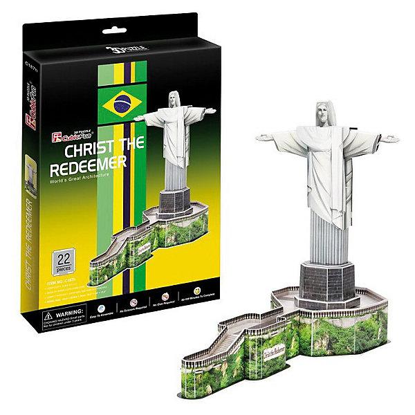 Пазл 3D Статуя Христа-Искупителя (Бразилия), CubicFun3D пазлы<br>Пазл 3D Статуя Христа-Искупителя (Бразилия), CubicFun (КубикФан)-знаменитая статуя Христа с распростёртыми руками на вершине горы Корковаду в Рио-де-Жанейро. Является символом Рио-де-Жанейро и Бразилии в целом. Избрана одним из Новых семи чудес света.<br><br>3D пазл собирается без клея, путем скрепления деталей друг с другом. Детали модели пронумерованы, и останется только выдавить нужные детали из общего числа и скрепить их согласно схеме. -Игра с конструктором способствует развитию внимания, наблюдательности, логики и мелкой моторики рук.<br><br>Дополнительная информация:<br><br>-Комплектация: 22 шт. деталей, инструкция<br>-Размер в собранном виде: 30х22 см<br>-Материал: ламинированный пенокартон, который обклеен тонким слоем картона с обеих сторон.<br><br>Великолепный 3D пазл Статуя Христа-Искупителя станет не только увлекательной игрушкой для вашего ребенка, но и познакомит его с мировыми достопримечательностями.<br><br>Пазл 3D Статуя Христа-Искупителя (Бразилия), CubicFun (КубикФан) можно купить в нашем магазине.<br><br>Ширина мм: 220<br>Глубина мм: 22<br>Высота мм: 330<br>Вес г: 329<br>Возраст от месяцев: 60<br>Возраст до месяцев: 144<br>Пол: Унисекс<br>Возраст: Детский<br>SKU: 3517825