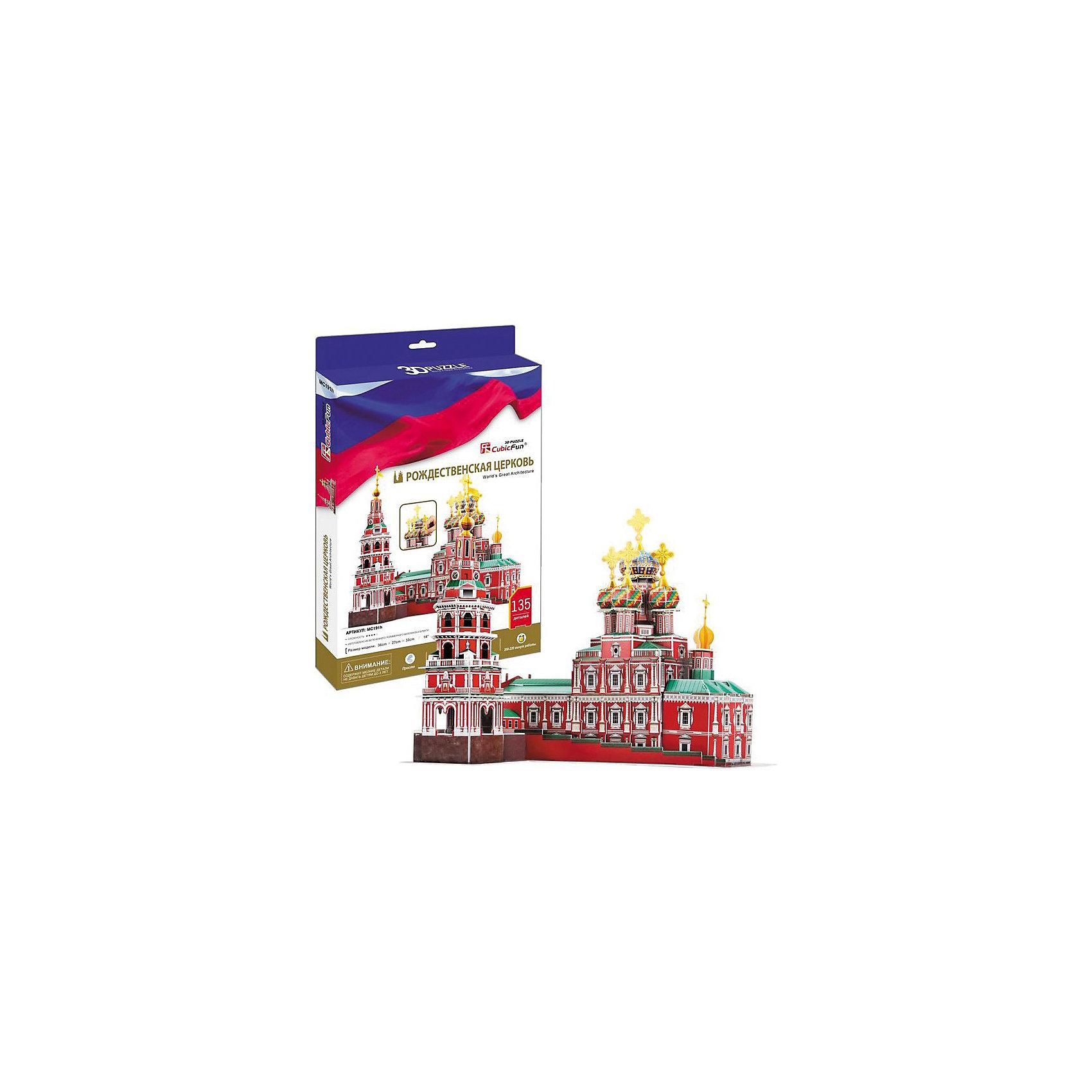 CubicFun Пазл 3D Рождественская церковь (Россия), CubicFun cubicfun 3d пазл эйфелева башня 2 франция cubicfun 33 детали