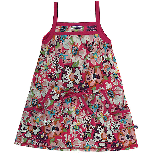 Сарафан для девочки Sweet BerryПлатья и сарафаны<br>Сарафан для девочки от известного бренда Sweet Berry.<br>Летний сарафан из принтованной ткани. Удобные накладные карманы. Пояс регулируется шнурком.<br>Состав:<br>хлопок 100%<br><br>Ширина мм: 236<br>Глубина мм: 16<br>Высота мм: 184<br>Вес г: 177<br>Цвет: белый<br>Возраст от месяцев: 72<br>Возраст до месяцев: 72<br>Пол: Женский<br>Возраст: Детский<br>Размер: 116<br>SKU: 3519681