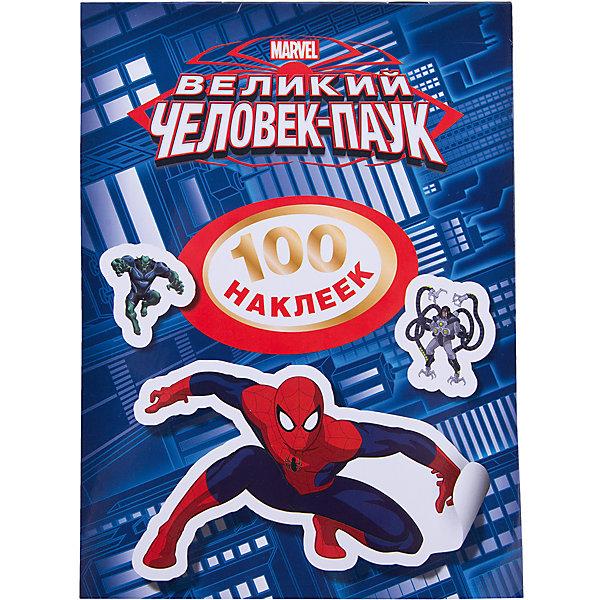 Альбом 100 наклеек, Человек-Паук, РосмэнЧеловек-Паук<br>Герои популярного диснеевского мультфильма про Человека-паука теперь в наклейках! В мини-альбоме собраны  герои любимого комикса Spider-Man.  Укрась портретами персонажей комнату, тетради и игрушки!<br><br>Дополнительная информация:<br><br>- На страницах альбома 100 наклеек<br>- Тип переплета (Обложка): Мягкая<br>- Формат (мм): 145x200<br>- Количество страниц: 8<br><br>Альбом с наклейками Человек-паук. 100 наклеек. Росмэн можно купить в нашем магазине.<br><br>Ширина мм: 200<br>Глубина мм: 150<br>Высота мм: 2<br>Вес г: 30<br>Возраст от месяцев: 60<br>Возраст до месяцев: 144<br>Пол: Мужской<br>Возраст: Детский<br>SKU: 3520811