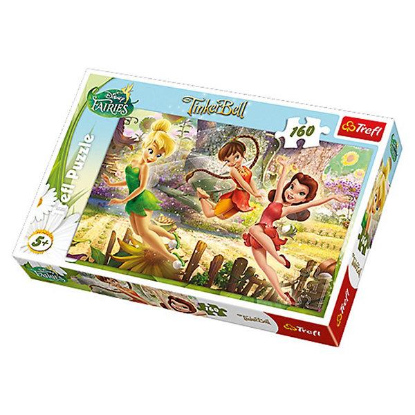 Пазлы «Игра Фей», 160 элементов, TreflПазлы для детей постарше<br>Характеристики товара:<br><br>• возраст: от 5 лет;<br>• материал: картон;<br>• в комплекте: 160 деталей;<br>• размер собранного пазла: 41х27,8 см;<br>• размер упаковки: 28,8х19,3х4,1 см;<br>• вес упаковки: 320 гр.;<br>• страна производитель: Польша.<br><br>Пазл «Игра фей» Trefl — красочный пазл с изображением очаровательных фей Дисней. Все детали выполнены из плотного качественного картона и хорошо соединяются между собой. Картинка имеет специальное покрытие, которое сохраняет цвет изображения долгое время. Сборка пазлов способствует развитию логического мышления, мелкой моторики рук, усидчивости.<br><br>Пазл «Игра фей» Trefl можно приобрести в нашем интернет-магазине.<br><br>Ширина мм: 287<br>Глубина мм: 198<br>Высота мм: 43<br>Вес г: 313<br>Возраст от месяцев: 84<br>Возраст до месяцев: 108<br>Пол: Женский<br>Возраст: Детский<br>Количество деталей: 160<br>SKU: 3522832