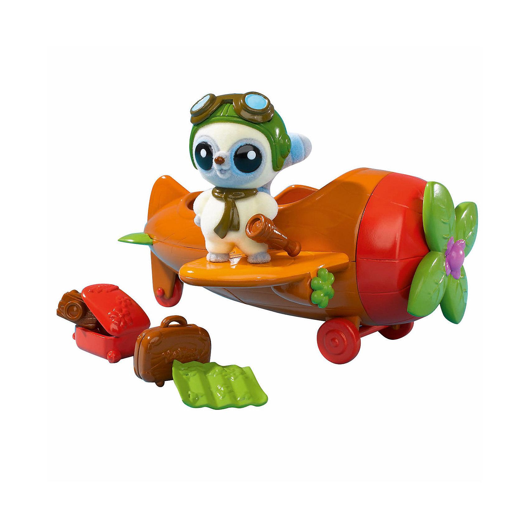 Simba Самолет с фигуркой, Юху и его друзья simba самолет инерционный цвет красный
