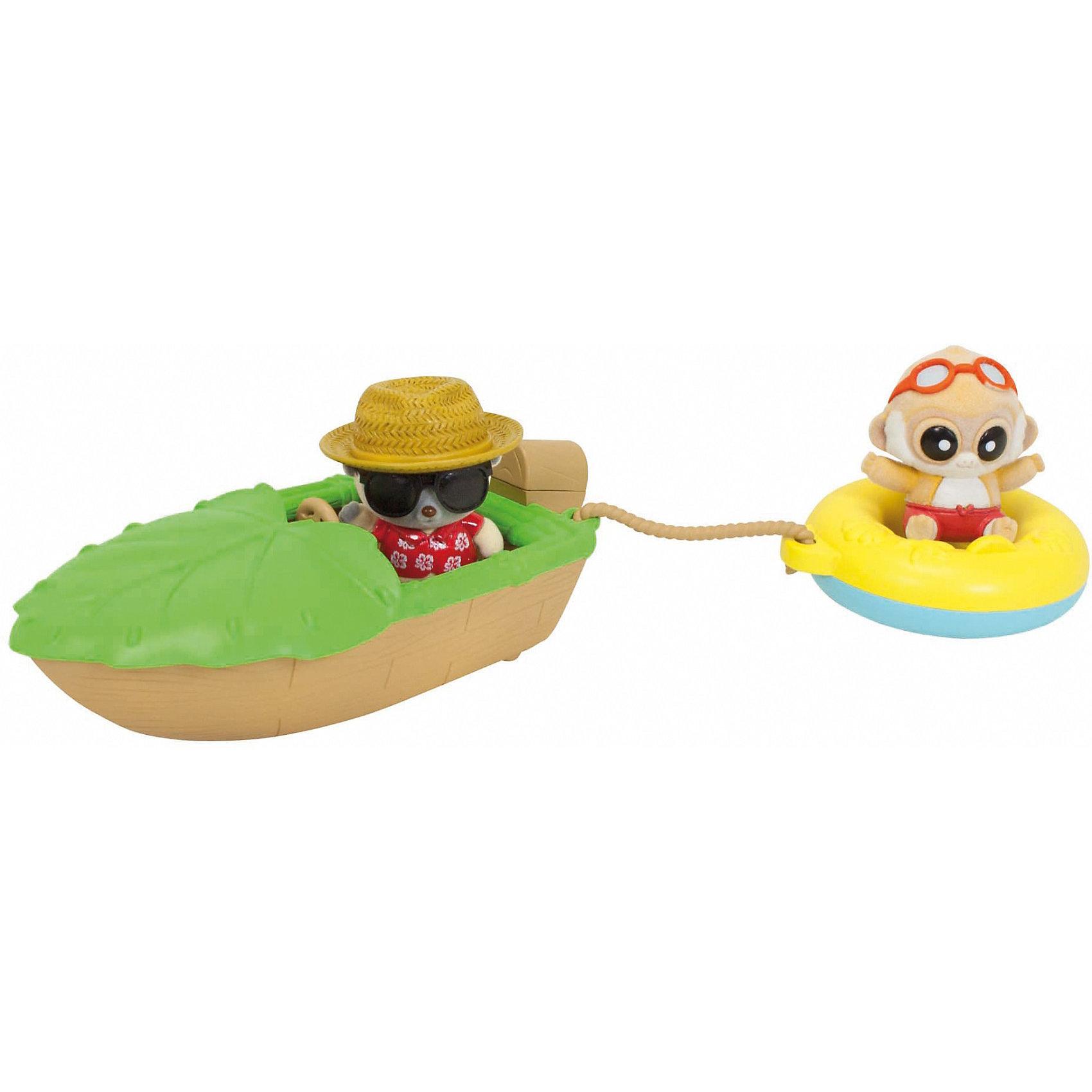 Игровой набор, Юху и его друзьяИгровые наборы<br>Кататься на лодке с веселыми лемурчиками - весело и интересно. Можно сидеть за рулем или же лететь по волнам на спасательном круге, привязанном за трос. Игрушка выполнена из высококачественного пластика безопасного для детей, прекрасно детализирована и ярко раскрашена. <br><br>Дополнительная информация:<br><br>- Материал: пластик.<br>- Размер: 21,5x19x8 см.<br>- Фигурки покрыта флоком.<br>- Комплектация:  лодка, круг с тросом, 2 фигурки. <br><br>Игровой набор, Юху и его друзья, можно купить в нашем магазине.<br><br>Ширина мм: 221<br>Глубина мм: 127<br>Высота мм: 89<br>Вес г: 169<br>Возраст от месяцев: 36<br>Возраст до месяцев: 72<br>Пол: Унисекс<br>Возраст: Детский<br>SKU: 3522861