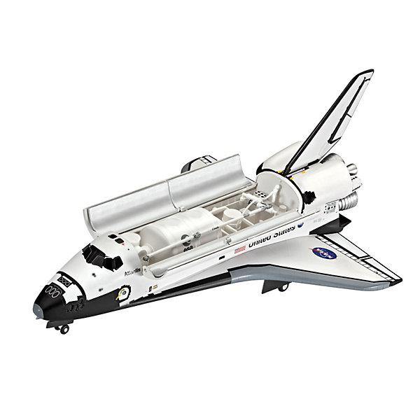 Космический корабль AtlantisСамолеты и вертолеты<br>Характеристики товара:<br><br>• возраст: от 10 лет;<br>• цвет: белый;<br>• масштаб: 1:144;<br>• количество деталей: 60 шт;<br>• материал: пластик; <br>• клей и краски в комплект не входят;<br>• длина модели: 25,2 см;<br>• ширина модели: 16,7 см;<br>• бренд, страна бренда: Revell (Ревел), Германия;<br>• страна-изготовитель: Китай.<br><br>Сборная модель «Космический корабль Atlantis» поможет вам и вашему ребенку придумать увлекательное занятие на долгое время. Atlantis («Атлантис») - это знаменитый транспортный корабль НАСА. Первый запуск состоялся в 1985 году. В период с 1995 года, «Атлантис» успел совершить семь полетов к станции «Мир».<br><br>В комплект набора входит: 60 пластиковых деталей, декаль с наклейками, подробная иллюстрирована инструкция для сборки и раскрашивания. Для сборки этой модели клей вам не потребуются, соединение деталей происходит посредством специальных зажимов. Краски в набор не входят.<br><br>Процесс сборки развивает интеллектуальные и инструментальные способности, воображение и конструктивное мышление, а также прививает практические навыки работы со схемами и чертежами. <br>Сборную модель «Космический корабль Atlantis», 60 дет., Revell (Ревел) можно купить в нашем интернет-магазине.<br><br>Ширина мм: 372<br>Глубина мм: 238<br>Высота мм: 66<br>Вес г: 377<br>Возраст от месяцев: 120<br>Возраст до месяцев: 180<br>Пол: Мужской<br>Возраст: Детский<br>SKU: 3522867
