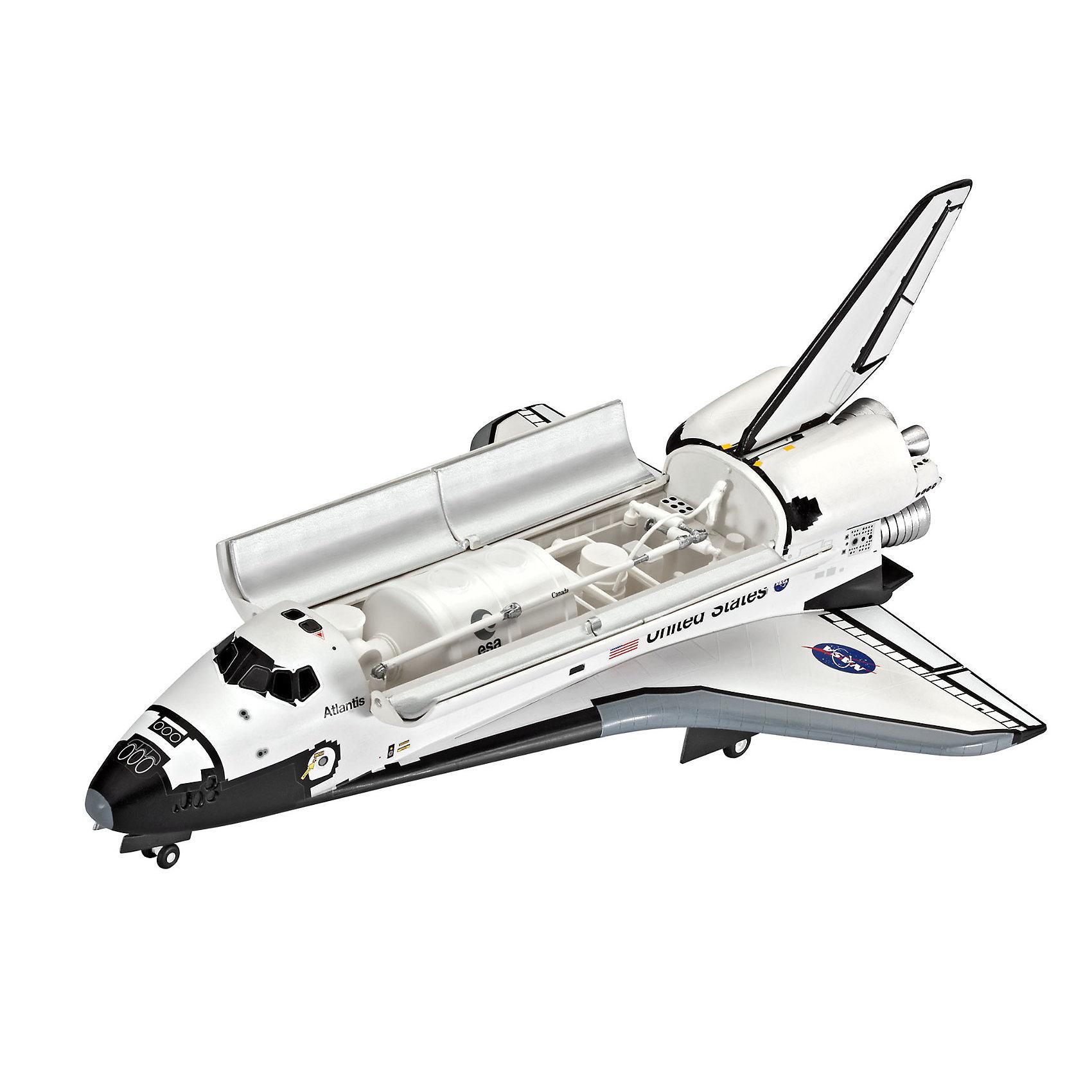 Космический корабль AtlantisМодели для склеивания<br>Сборная модель космического шаттла Atlantis. Четвертый из серии космических транспортных кораблей NASA. Строительство корабля началось в 1980 году, а через 5 лет он совершил свой первый полет. Всего Atlantis совершил 33 вылета. Последний полет был осуществлен 8 июля 2011 года. Сейчас шаттл находится в космическом центре им. Кеннеди на мысе Канаверал. <br>Масштаб: 1:144 <br>Количество деталей: 64 <br>Длина модели: 252 мм <br>Размах крыльев: 167 мм <br>Клей и краски в комплект не входят. Аксессуары приобретаются отдельно.<br><br>Ширина мм: 370<br>Глубина мм: 238<br>Высота мм: 67<br>Вес г: 375<br>Возраст от месяцев: 120<br>Возраст до месяцев: 180<br>Пол: Мужской<br>Возраст: Детский<br>SKU: 3522867