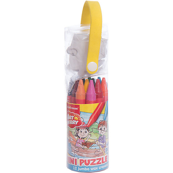 Набор для творчества ArtBerry Mini Puzzle set для раскрашиванияНаборы для раскрашивания<br>Набор для творчества ArtBerry Mini Puzzle set для раскрашивания<br><br>Характеристики:<br><br>• В набор входит: пазл, восковые мелки, упаковка-тубус<br>• Количество деталей пазла: 9 шт.<br>• Мелки: 12 цветов<br>• Размер упаковки: 19,5 * 4,8 * 4,8 см.<br>• Состав: картон, воск, пищевой краситель<br>• Вес: 149 г.<br>• Для детей в возрасте: от 3 до 5 лет<br>• Страна производитель: Россия<br><br>В творческий набор включен небольшой пазл из девяти деталей. На картинке изображены дети, катающиеся на лодке. Двенадцать ярких цветных карандашей, изготовленных из воска с добавлением пищевых красителей безопасны для детей и не требуют сильного нажима, чтобы ими можно было рисовать. Мелки не оставляют следов на руках, но каждый их мелков обернут бумагой. Чтобы затачивать мелки вам нужно порисовать ими немного по бумаги и края сточатся сами, заострив носик. Рисуя мелками детям особенно нравится, что рисовать можно и боковыми частями мелка, а не только грифелем как в карандаше или фломастере. <br><br>Мягкие мелки при рисовании не оставляют царапин и станут идеальным инструментом для первых попыток рисования. Мелки не ломаются при рисовании и доставляют только положительные эмоции. В набор входит 12 стандартных цветов, которые помогут малышу сотворить любой шедевр и выучить много новых оттенков. Занимаясь рисованием с восковыми мелками дети развивают моторику рук, творческие способности, восприятие цветов и их сочетаний, а также весело проводят время. <br><br>Набор для творчества ArtBerry Mini Puzzle set для раскрашивания можно купить в нашем интернет-магазине.<br>Ширина мм: 48; Глубина мм: 195; Высота мм: 48; Вес г: 149; Возраст от месяцев: 60; Возраст до месяцев: 216; Пол: Унисекс; Возраст: Детский; SKU: 3525238;