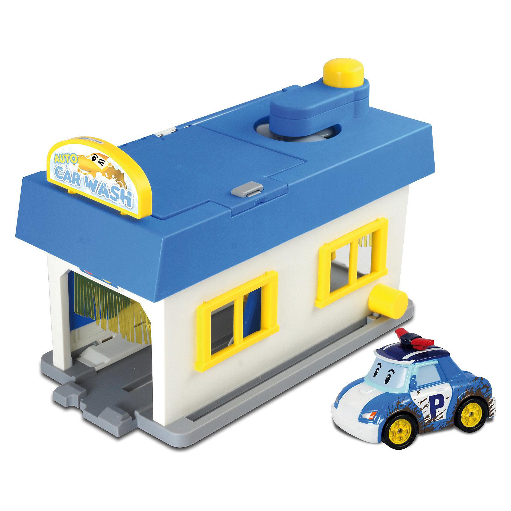 Игровой набор Мойка, Робокар ПолиИгрушки<br>Набор Мойка Робокар Поли (Robocar Poli)- это уникальный реалистичный комплекс-трансформер: при желании он легко превращается из автомойки в гараж! Мойка максимально оборудована: есть специальные валики, чтобы помыть машину, вентилятор для сушки и даже специальный подъемник для техосмотра машины.  Валики на автомойке крутятся, а если нажать на специальную кнопку - вращается специальный вентилятор, позволяющий просушить машинку после мойки. Весь автомоечный комплекс легко складывается и получается небольшой гараж. В комплект также входит полицейская машинка Поли (металлическая). Этот набор, также как игрушки по мотивам сериала Robocar Poli (Робокар Поли), способствуют развитию фантазии и воображения ребенка, логики и мелкой моторики рук. Набор идеально подходит для ситуативных игр по мотивам мультсериала и собственных фантазий малыша. <br>Пусть малыш с детства стремится стать хорошим водителем!<br><br>Дополнительная информация:<br><br>- идеальный подарок для мальчика;<br>- развивает воображение;<br>- машинка - герой любимого мультика;<br>- комплектация: металлическая полицейская машинка Поли (Poli) (6 см) с имитацией грязи по бокам, станция мойки, аксессуары: деревья, дорожные знаки;<br>- материал: металл, пластик;<br>- вес: 2,268 кг;<br>- размер мойки: 53 х 50см;<br>- размер упаковки: 31 х 43 х 16 см.<br><br>Игровой набор Мойка Робокар Поли (Robocar Poli) Вы можете приобрести в нашем интернет-магазине<br><br>Ширина мм: 430<br>Глубина мм: 155<br>Высота мм: 305<br>Вес г: 1600<br>Возраст от месяцев: 36<br>Возраст до месяцев: 66<br>Пол: Мужской<br>Возраст: Детский<br>SKU: 3526761