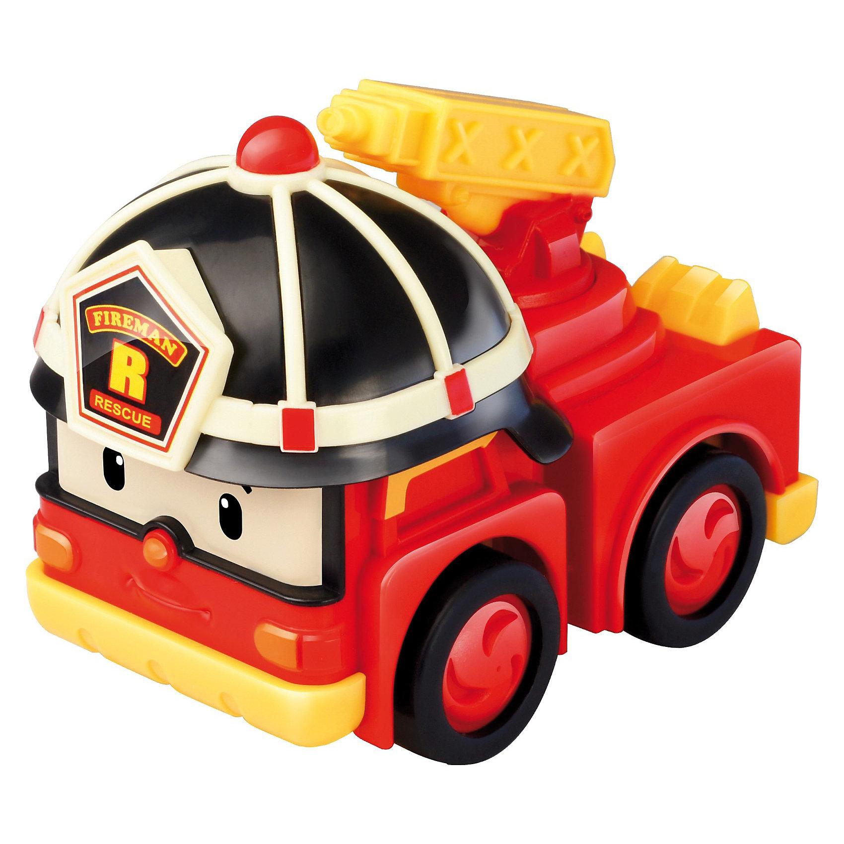 Игрушка Инерционная машинка Рой, Робокар ПолиИнерционная машинка Рой , Робокар Поли (Robocar Poli) персонаж супер команды спасателей мультсериала про полицейскую машинку-робота Поли и его друзей живущих в необычном городке Брумстаун, в котором машины живут наравне с людьми. Все машинки городка Брумстаун умеют говорить и у каждого героя есть свое дело. В этом городе все друг друга знают и все дружат. Именно, командная работа позволяет всем жителям городка справляться со всеми сложностями, выручать и поддерживать друг друга. <br>Пожарная машинка Рой (металлическая) - возможность пополнить коллекцию ребенка новым автомобильчиком. Отважный Рой всегда спешит на помощь и старается предотвратить чрезвычайную ситуацию, вызванную пожаром. Игрушка полностью отображает экранный образ храброго спасателя. Чтобы привести машинку в движение, нужно немного прижать ее, затем оттянуть назад и отпустить и она долго будет катиться по инерции.<br><br>Дополнительная информация: <br><br>- инерционная машинка  Рой безопасна для ребенка в возрасте от трех лет и старше: материалы, которые использовались при производстве игрушки, не вызывают у крохи аллергию и абсолютно нетоксичны;<br>- автомобиль отличается обтекаемым корпусом и полным отсутствием острых углов;<br>- материал: пластик;<br>- машинка очень красочная, основными оттенками являются красный и желтый;<br>- на корпусе автомобиля есть специальный знак, говорящий о соответствии игрушки европейским стандартам качества;<br>-  развивает: мелкую моторику рук и мышцы пальцев, координацию движений, фантазию и умение подражать, навык игры в коллективе;<br>- размер машинки: 7,5 см;<br>- размер упаковки: 12 х 13 х 7 см;<br>- вес игрушки  0,15 кг.<br><br>Инерционную машинку Рой , 6 см, Робокар Поли (Robocar Poli)  Вы можете купить в нашем интернет-магазине.<br><br>Ширина мм: 120<br>Глубина мм: 130<br>Высота мм: 70<br>Вес г: 152<br>Возраст от месяцев: 36<br>Возраст до месяцев: 84<br>Пол: Мужской<br>Возраст: Детский<br>SKU: 3526766