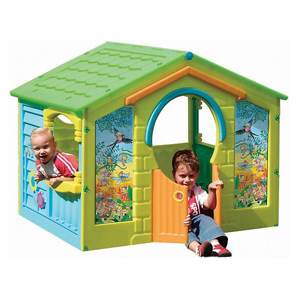 PalPlay Домик - КоттеджДомики и мебель<br>Замечательный Домик-Коттедж Marianplast (Марианпласт) станет для Вашего ребенка любимым местом для игр и отдыха. Домик достаточно просторный и вместительный, подойдет как для одного ребенка так и для компании маленьких друзей.<br><br>Домик с ярким, красочным дизайном имитирует реальный дом, выполненный из досок с черепичной крышей. В домике одна большая комната, четыре больших окна и одно небольшое круглое под крышей. В домике распашные двери, которые открываются в любую сторону, в закрытом положении одна створка фиксируется снизу. Передняя стенка домика украшена изображениями птиц. На стенах домика также есть специально отведенные места под наклейки, которые входят в комплект: яркие цветочки, вилы, совок, грабли, водопроводный кран, лейка.<br><br>Благодаря удобной конструкции домик легко и быстро собирается с помощью пластиковых гаек. Подходит также для помещений.<br><br>Дополнительная информация:<br><br>- В комплекте: элементы для сборки дома (четыре стены и складывающаяся пополам крыша), набор пластиковых гаек, комплект наклеек для стен.<br>- Материал: сверхпрочный гипоаллергенный пластик.<br>- Размер домика: 130 х 111 х 115 см.<br>- Размер упаковки: 135 х 115 х 17 см.<br>- Вес: 17 кг.<br><br>Домик-Коттедж от Marianplast (Марианпласт) можно купить в нашем интернет-магазине.<br><br>Ширина мм: 1300<br>Глубина мм: 1110<br>Высота мм: 1150<br>Вес г: 17000<br>Возраст от месяцев: 24<br>Возраст до месяцев: 96<br>Пол: Унисекс<br>Возраст: Детский<br>SKU: 3527207
