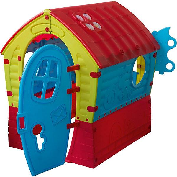 PalPlay Домик ЛилипутДомики и мебель<br>Домик Лилипут Marian Plast станет любимым местом для игр Вашего ребенка на даче или в детской комнате. Ребенок с удовольствием будет играть в своем собственном маленьком уютном домике.<br><br>Домик имеет яркий, красочный дизайн с крышей под черепицу. В домике одна комната, два круглых окошка, окошко в двери и одно окошко с резными ставенками. Вход с одной дверкой. Конструкция домика очень надёжная и устойчивая и полностью безопасна для игр малыша.<br><br>Домик легко и быстро собирается без использования специального инструмента, детали соединяются и закрепляются специальными пластиковыми гайками, которые входят в комплект .<br><br>Дополнительная информация:<br><br>- В комплекте: элементы для сборки дома, набор пластиковых гаек.<br>- Материал: сверхпрочный гипоаллергенный пластик.<br>- Размер домика: 95 x 90 x 110 см.<br>- Размер упаковки: 116 x 95 x 11 см.<br>- Вес: 10 кг.<br>- Вес с упаковкой: 15 кг.<br><br>Игровой комплекс-домик способствует развитию фантазии, воображения и творческих способностей.<br><br>Домик Лилипут от Marianplast (Марианпласт) можно купить в нашем интернет-магазине.<br>Ширина мм: 950; Глубина мм: 900; Высота мм: 1100; Вес г: 15000; Возраст от месяцев: 24; Возраст до месяцев: 96; Пол: Унисекс; Возраст: Детский; SKU: 3527208;
