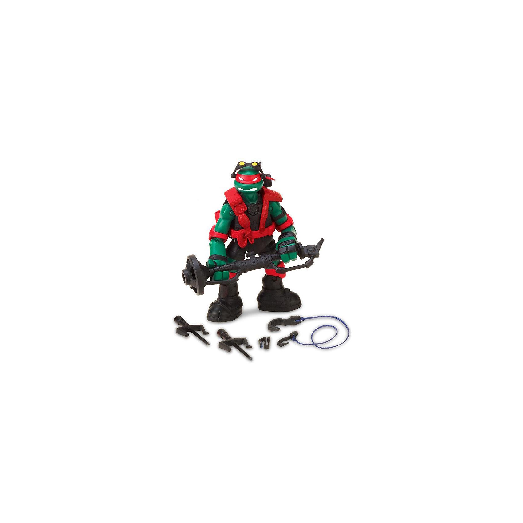Фигурка Рафаэль, 12 см, Черепашки НиндзяКоллекционные и игровые фигурки<br>В сериале про Черепашек Ниндзя (Ninja Turtles)  Раф - такой же жестокий и быстрый, как и раньше, но теперь у него новый арсенал: технологичные кинжалы Сай, таран, тепловизор и специальный крюк для тарзанки. Новое оружие позволит великому мастеру кинжалов-сай победить любого Крэнга.<br>Фигурка Рафаэля имеет подвижные голову, руки и ноги (на шарнирах), в том числе в локтях и коленях. Сзади на панцире имеются крепежи для кинжалов. На голове Рафа опускающиеся очки с тепловизором. Оружие: технологичные кинжалы-сай, таран.<br><br>Дополнительная информация:<br><br>Комплектация:<br>-фигурка Рафаэля<br>-2 кинжала-сай<br>-веревка и крюк для тарзанки<br>-таран<br>-инструкция на русском языке<br>-Материал: пластмасса<br>-Высота: около 12 см<br><br>Сделанные по макетам  мультсериала фигурка не оставит равнодушными маленьких любителей зеленых мутантов.<br><br>Фигурку Раф STEALTH TECH, 12 см, Черепашки Ниндзя (Ninja Turtles) можно купить в нашем магазине.<br><br>Ширина мм: 125<br>Глубина мм: 85<br>Высота мм: 220<br>Вес г: 200<br>Возраст от месяцев: 48<br>Возраст до месяцев: 132<br>Пол: Мужской<br>Возраст: Детский<br>SKU: 3529130