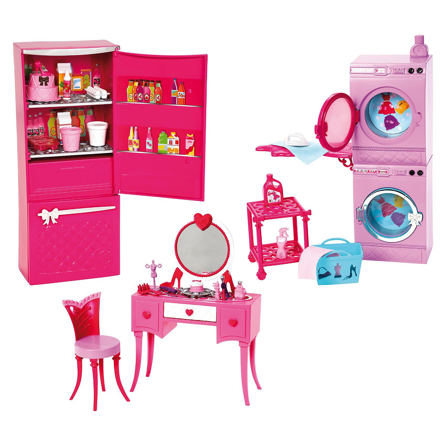 Набор аксессуаров Компактная комната, Barbie,  в ассортименте