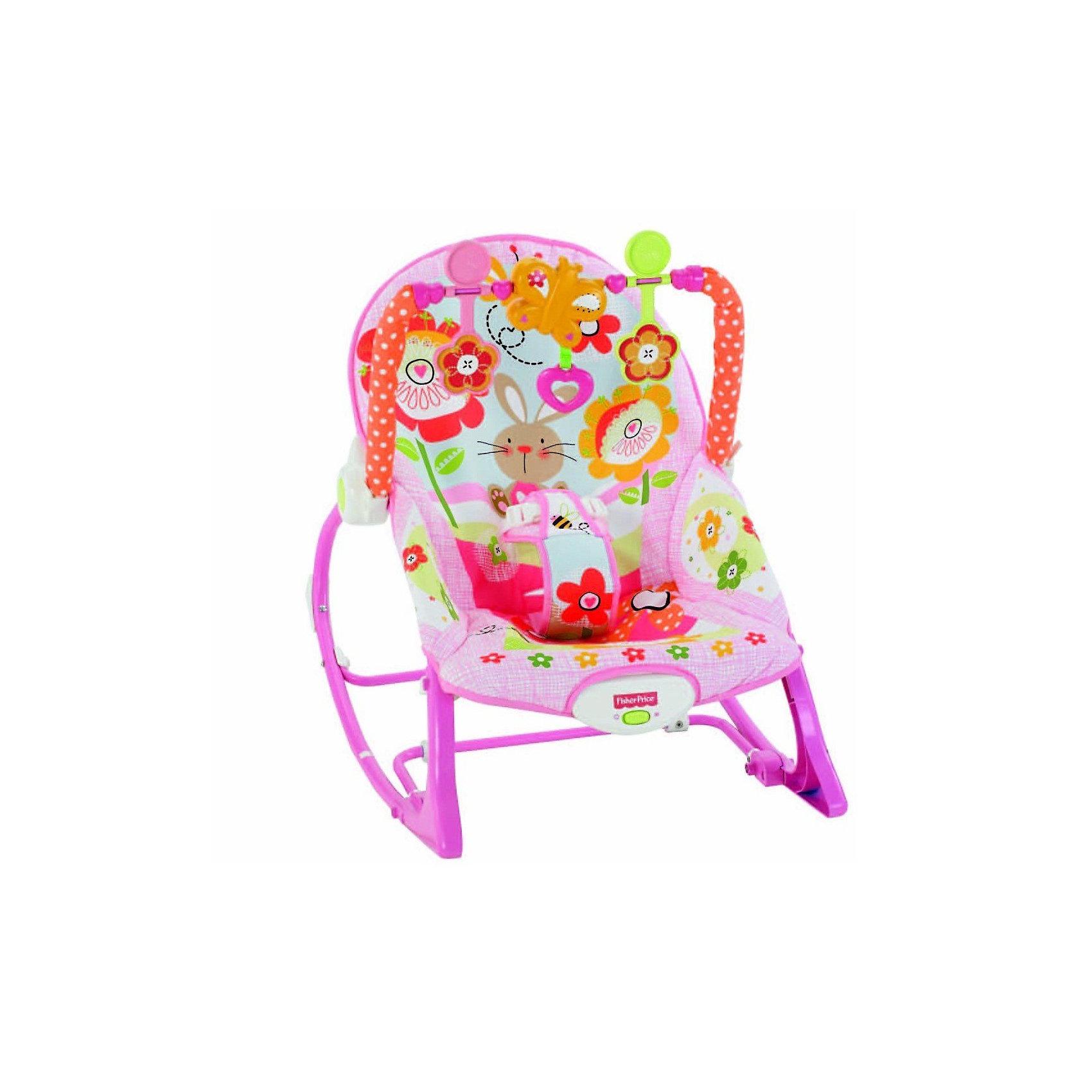 Mattel Кресло-качалка для девочек Растем вместе, Fisher-Price fisher price fisher розовый кролик многофункциональный портативный качалка drd28