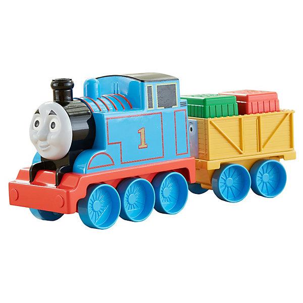 Первый паровозик малыша, Томас и его друзьяИгрушки<br>Первый паровозик малыша, Томас и его друзья от Fisher-Price (Фишер-Прайс) – безопасная, яркая и красивая игрушка для Вашего малыша. <br><br>Паровозики разработаны в соответствии с размером ладошек ребенка, поэтому малышам так нравится с ними играть. При нажатии на кнопку паровоз свистит.<br><br>Дополнительная информация:<br><br>- Размеры: 35х25,5х11,5 см<br>- Вес: 1,7 кг<br>- Материал: пластик<br>Комплектация:<br>- паровоз и вагон с грузом<br><br>Первый паровозик малыша, Томас и его друзья поможет Вашему крохе развить воображение, а также моторику рук.<br><br>Первый паровозик малыша, Томас и его друзья от Fisher-Price (Фишер-Прайс) можно купить в нашем магазине.<br>Ширина мм: 354; Глубина мм: 258; Высота мм: 114; Вес г: 794; Возраст от месяцев: 12; Возраст до месяцев: 36; Пол: Унисекс; Возраст: Детский; SKU: 3531013;