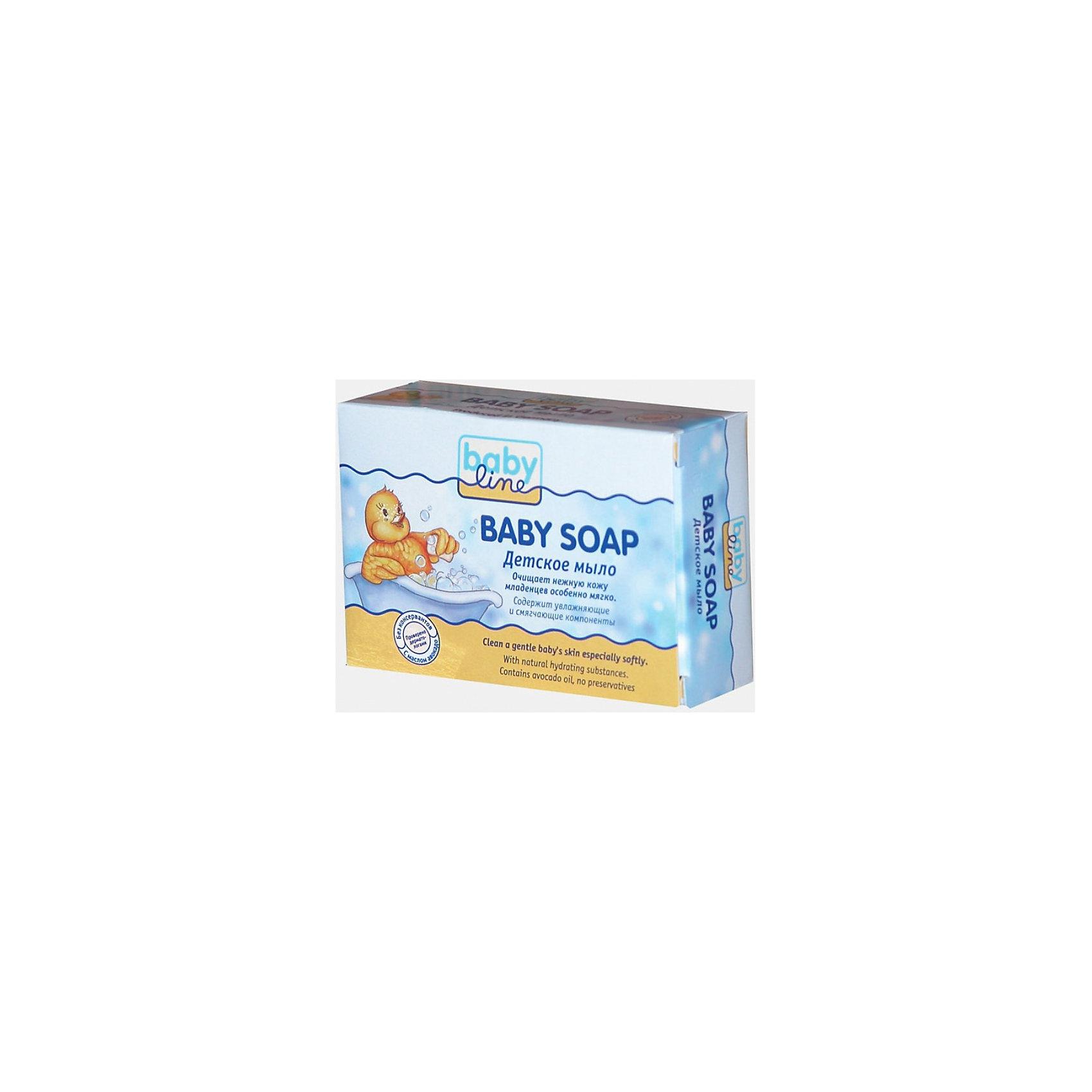 Детское мыло, BabyLine, 100 гКупание малыша<br>Детское мыло, BabyLine (БэйбиЛайн), прекрасно очищает нежную кожу младенцев деликатно и мягко. Содержит увлажняющие и смягчающие компоненты, которые сделают кожу Вашего крохи еще нежнее. Мыло дерматологически протестировано. Мягкие моющие вещества, входящие в состав мыла, тщательно очищают кожу, предохраняя её от высыпаний. Масло авокадо оказывает смягчающее и ранозаживляющее действие.<br>Купание - в удовольствие!<br><br>Дополнительная информация:<br><br>- не вызывает аллергии;<br>- содержит только чистые растительные компоненты;<br>- создает активную пену, но легко смывается;<br>- не содержит красителей;<br>- обладает приятным, не резким запахом;<br>- очень экономично расходуется;<br>- не сушит кожу рук;<br>- рекомендовано для нежной кожи новорожденных;<br>- вес: 100г.<br><br>Нежная и чистая кожа каждый день!<br><br>Детское мыло, BabyLine, 100 г Вы можете купить в нашем интернет-магазине.<br><br>Ширина мм: 90<br>Глубина мм: 30<br>Высота мм: 62<br>Вес г: 110<br>Возраст от месяцев: 0<br>Возраст до месяцев: 48<br>Пол: Унисекс<br>Возраст: Детский<br>SKU: 3531102