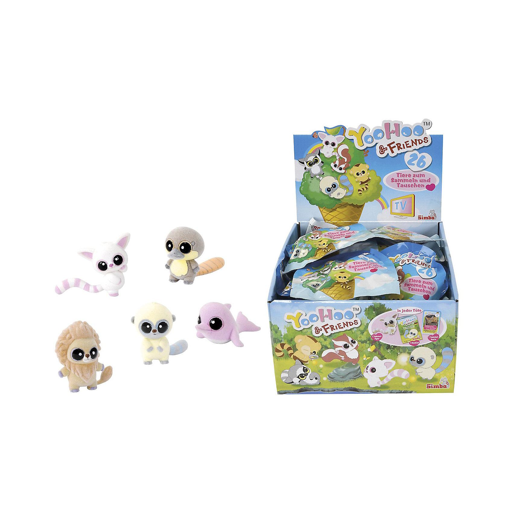 Фигурка, 5см, Юху и друзья, в ассортиментеДобро пожаловать в невероятный мир YooHoo &amp; Friends (Юху и его Друзья), созданный компанией Aurora (Аврора). Это забавная коллекция мягких игрушек с большими глазами и добродушными мордочками. Ребята полюбили их, как героев одноименного мультика: YooHoo &amp; Friends (Юху и его Друзья), где Юху со своими друзьями отправились в путешествие по всему свету, чтобы найти все семена дерева жизни и вернуть их обратно  до восхода новой звезды Авроры. Маленькие друзья столкнутся в своем путешествии со многими трудностями и препятствиями. Чтобы выполнить свою миссию Юху и его друзья должны научиться дружить и помогать друг другу в сложных ситуациях. Тогда с любой задачей, даже с самой сложной,  можно справиться!<br>Симпатичные красочные зверята являются прототипами настоящих животных, которые населяют нашу планету (фенек, примат, красная белка, капуцин, лемур). При этом, некоторые из них относятся к редким видам, стоящим на пороге исчезновения! Вашему малышу очень понравится коллекционировать забавных зверят вместе с YooHoo &amp; Friends (Юху и его Друзья). <br><br>Дополнительная информация:<br><br>- 26 видов фигурок в ассортименте;<br>- изготовлены из материала высокого качества;<br>- могут быть использованы в качестве декора;<br>- зверята - герои любимого мультика;<br>- размер: 5 см;<br>- в комплекте 1 фигурка, карточка и буклет;<br><br>ВНИМАНИЕ! Данный артикул имеется в наличии в виде разных персонажей. К сожалению, заранее выбрать определенный персонаж не возможно.<br><br>Поселите у себя дома симпатичного зверька.<br><br>Фигурки YooHoo &amp; Friends (Юху и его Друзья) в ассортименте 5 см, Вы можете купить в нашем интернет-магазине.<br><br>Ширина мм: 100<br>Глубина мм: 250<br>Высота мм: 400<br>Вес г: 320<br>Возраст от месяцев: 36<br>Возраст до месяцев: 120<br>Пол: Унисекс<br>Возраст: Детский<br>SKU: 3533035