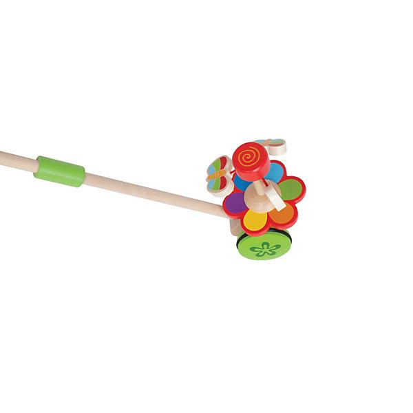 Каталка Бабочки в саду, HapeДеревянные игрушки<br>Деревянная каталка Бабочки в саду от Hape (Хапе) побуждает малыша к длительным прогулкам,  ведь ему так нравится наблюдать за бабочками, порхающими над цветком. Они летают только пока малыш везет каталку. Важной особенностью является наличие резиновых вставок на колесах, что позволит играть дома, не повредив паркет. Очаровательные бабочки летают над цветком, в то время как малыш катит ее по полу.  Игрушка способствует физическому и эмоциональному развитию ребенка, стимулирует малыша больше ходить, развивает когнитивные навыки и координацию движений. Размер ручки и высота каталки разработаны с учетом строения маленьких ручек ребенка и его роста.<br><br>Дополнительная информация: <br><br>- Материал: дерево;<br>- Яркая привлекательная расцветка;<br>- Размер игрушки: 16 х 18,5 х 50 см;<br>- Вес: 0,45 кг.<br><br>Каталку Бабочки в саду, Hape (Хапе) можно купить в нашем интернет-магазине.<br><br>Ширина мм: 175<br>Глубина мм: 240<br>Высота мм: 180<br>Вес г: 450<br>Возраст от месяцев: 12<br>Возраст до месяцев: 36<br>Пол: Унисекс<br>Возраст: Детский<br>SKU: 3534100