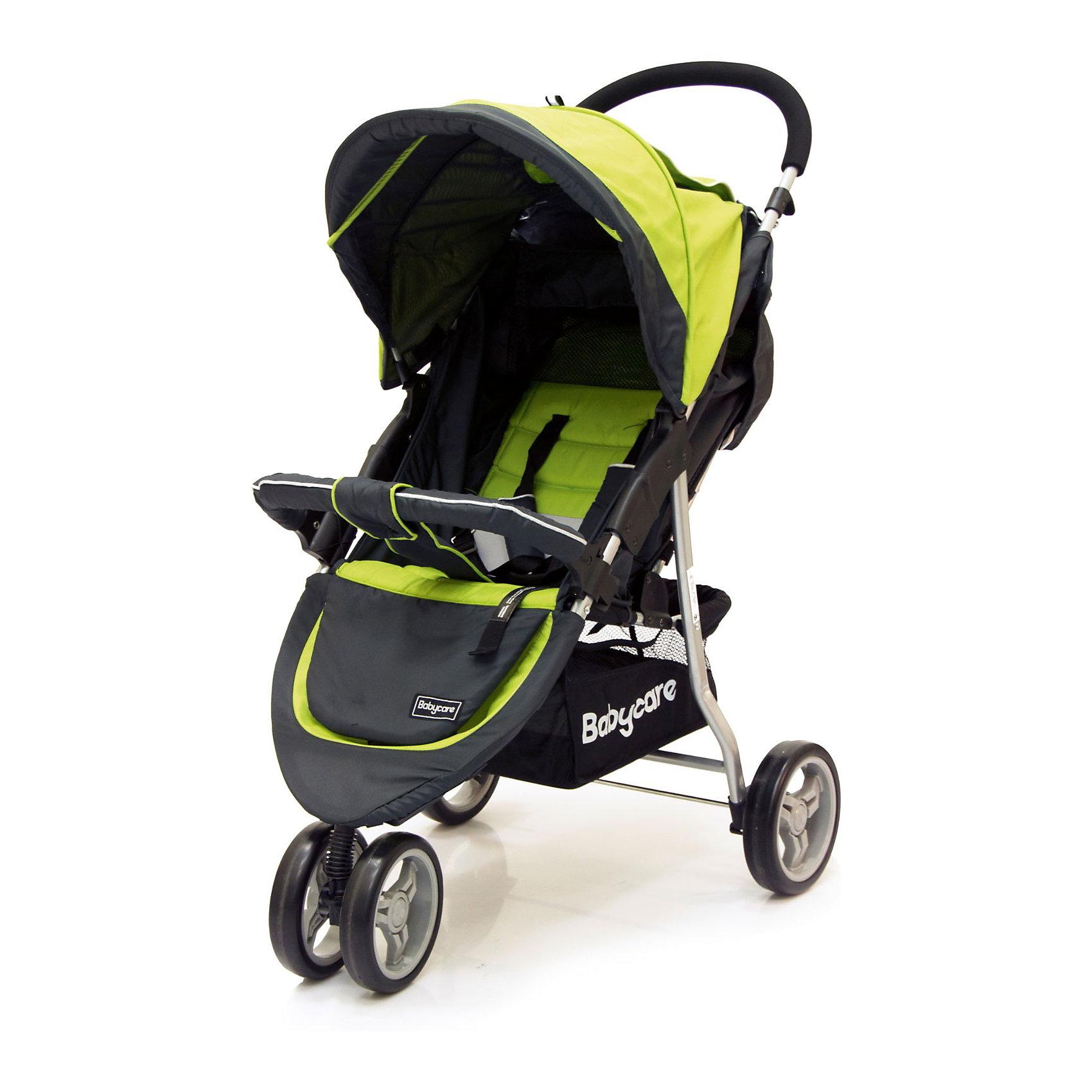 Прогулочная коляска Baby Care Jogger Lite, зеленыйНедорогие коляски<br>Характеристики коляски Baby Care Jogger Lite:<br><br>• угол наклона спинки регулируется почти до горизонтального положения;<br>• регулируемый капюшон оснащен солнцезащитным козырьком;<br>• на капюшоне имеется смотровое окошко под клапаном и карман для мелочей;<br>• регулируемая подножка;<br>• наличие 5-ти точечных ремней безопасности;<br>• каркасный съемный бампер с мягким чехлом;<br>• тканевый разделитель для ножек, крепится кнопкой к бамперу;<br>• материал прогулочного блока: полиэстер. <br><br>Характеристики шасси коляски Baby Care Jogger Lite:<br><br>• 3-х колесная коляска;<br>• пластиковые колеса;<br>• переднее сдвоенное поворотное колесо с блокировкой;<br>• вместительная корзина для покупок;<br>• тип складывания: книжка, устойчивая в сложенном виде в вертикальном положении;<br>• материал рамы: алюминий;<br>• материал колес: пластик.<br><br>Маневренная прогулочная коляска с высокой степенью проходимости предназначена для детей в возрасте от 6 месяцев до 3-х лет, вес которых находится в пределах 15 кг. Регулируемая спинка и подножка позволяют подобрать для малыша удобное положение как во время сна, так и во время бодрствования.  <br><br>Размеры коляски:<br><br>• размер в сложенном виде: 53х83х40 см;<br>• вес коляски: 7,5 кг;<br>• размер сиденья: 20х30 см, высота от пола 40 см;<br>• длина спального места: 60 см;<br>• ширина колесной базы: 53 см;<br>• диаметр переднего колеса: 17 см;<br>• диаметр заднего колеса: 19 см;<br>• размер упаковки: 80х20х48 см;<br>• вес упаковки: 9 кг.<br><br>Комплектация: <br><br>• прогулочный блок с капюшоном и бампером;<br>• шасси с колесами и корзиной для покупок;<br>• чехол на ножки;<br>• встроенная москитная сетка под задней шторкой капюшона;<br>• инструкция на русском языке. <br><br>Прогулочную коляску Jogger Lite, Baby Care, зеленую можно купить в нашем интернет-магазине.<br><br>Ширина мм: 800<br>Глубина мм: 200<br>Высота мм: 480<br>Вес г: 9090<br>Возраст от ме