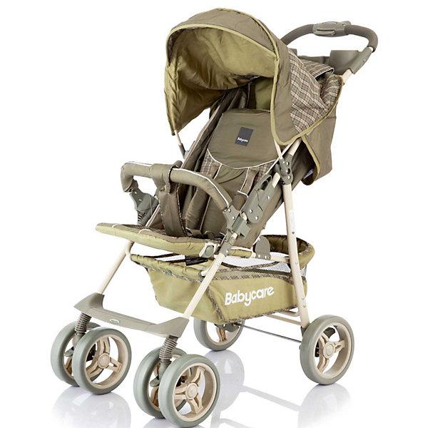 Прогулочная коляска Baby Care Voyager, оливковыйПрогулочные коляски<br>Характеристики прогулочной коляски Baby Care Voyager:<br><br>• спинка регулируется в 3-х положениях, угол наклона 170 градусов;<br>• подножка регулируется в 2-х положениях, продлевает спальное место;<br>• пластиковая подножка для подросшего ребенка;<br>• 5-ти точечные ремни безопасности защищают ребенка;<br>• съемный бампер обтянут тканью;<br>• защитный капюшон со смотровым окошком;<br>• чехлы прогулочного блока можно стирать при температуре 30 градусов;<br>• предусмотрен чехол на ножки;<br>• материал: пластик, полиэстер;<br>• длина спального места: 83 см;<br>• ширина сиденья: 38 см;<br>• размер коляски: 48х83х100 см;<br>• вес: 7,5 кг;<br>• размер упаковки: 20х53х90 см;<br>• вес в упаковке: 9,2 кг.<br><br>Характеристики шасси коляски:<br><br>• сдвоенные передние колеса поворотные с фиксацией;<br>• наличие амортизаторов;<br>• корзина для покупок;<br>• подстаканник на раме;<br>• тип складывания: книжка;<br>• складывается одной рукой;<br>• материал рамы: алюминий;<br>• материал колес: пеноплен (вспененная резина);<br>• ширина колесной базы: 48 см;<br>• диаметр колес: 19 см.<br><br>Прогулочная коляска для деток, которые умеют сидеть, оснащена регулируемой спинкой и подножкой, регулируемым капюшоном, подстаканником. Наличие накидки на ножки обеспечивает малышу комфортные условия на прогулке в прохладное время года. Колеса не гремят, имеют амортизацию и пластиковые диски.  <br><br>Прогулочную коляску Voyager, Baby Care, оливковую можно купить в нашем интернет-магазине.<br><br>Ширина мм: 900<br>Глубина мм: 200<br>Высота мм: 530<br>Вес г: 10320<br>Возраст от месяцев: 6<br>Возраст до месяцев: 48<br>Пол: Унисекс<br>Возраст: Детский<br>SKU: 3534862