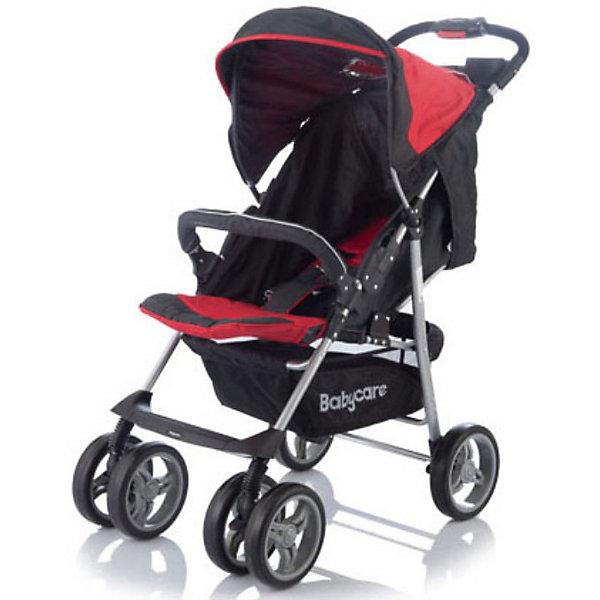 Прогулочная коляска Baby Care Voyager, красныйНедорогие коляски<br>Коляска Baby Care Voyager - легкая и маневренная прогулочная коляска. Благодаря продуманному дизайну коляска очень комфортна не только для ребенка но и для мамы.<br>Колеса из прочного и легкого пластикового полимера обеспечивают проходимость по любой местности, не гремят по асфальту, передние колеса можно фиксировать как в положении прямо так и в свободном (360 градусов).<br><br>Коляска оснащена удобным сиденьем для малыша с 5-точечными ремнями безопасности и съемным бампером, спинка механически раскладывается в 3-х положениях до 170 <br>градусов. Подножку также можно настраивать по высоте, с ее помощью получается просторное спальное место оптимальной длины. Сиденье защищено большим опускающимся<br>капюшоном с окошком. В коляске имеется также просторная корзина для детских принадлежностей или покупок и столешница с подстаканниками.<br><br>Коляска легко складывается книжкой, ее компактность и легкий вес позволяют использовать ее во время поездок и путешествий.<br><br>Особенности:<br><br>- 3 положения спинки (включая горизонтальное 170 градусов);<br>- 5-ти точечный ремень безопасности с мягкими наплечниками;<br>- жесткая спинка с плавно регулируемым наклоном;<br>- регулируемая подножка;<br>- бампер с мягкой обивкой.<br>- облегченная алюминиевая рама;<br>- двойные плавающие передние колеса с фиксацией<br>- колеса из вспененной искусственной резины с добавлением каучука, по асфальту не гремят.<br>- большая корзина для вещей;<br>- чехол на ножки;<br>- подставка для родителей.<br><br>Дополнительная информация:<br><br>- Материал: ткань, аллюминий.<br>- Цвет: красный.<br>- Ширина колесной базы: 48 см.<br>- Диаметр колес: 19 см.<br>- Длина спального места: 83 см.<br>- Ширина сиденья: 38 см.<br>- Размеры в разложенном виде: 50 х 83 х 100 см.<br>- Размеры в упаковке: 20 х 53 х 90 см.<br>- Вес: 7,5 кг. <br><br>Прогулочную коляску Voyager от Baby Care можно купить в нашем интернет-магазине.<br>Ширина мм: 900; Глу