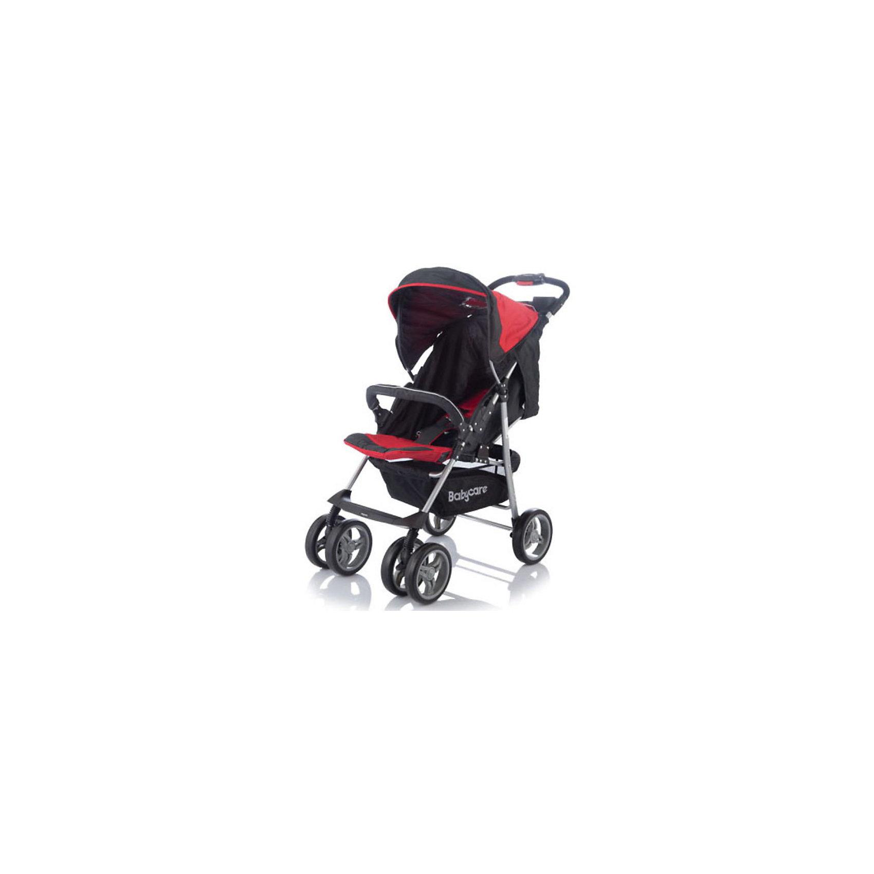 Прогулочная коляска Voyager, Baby Care, красныйКоляска Baby Care Voyager - легкая и маневренная прогулочная коляска. Благодаря продуманному дизайну коляска очень комфортна не только для ребенка но и для мамы.<br>Колеса из прочного и легкого пластикового полимера обеспечивают проходимость по любой местности, не гремят по асфальту, передние колеса можно фиксировать как в положении прямо так и в свободном (360 градусов).<br><br>Коляска оснащена удобным сиденьем для малыша с 5-точечными ремнями безопасности и съемным бампером, спинка механически раскладывается в 3-х положениях до 170 <br>градусов. Подножку также можно настраивать по высоте, с ее помощью получается просторное спальное место оптимальной длины. Сиденье защищено большим опускающимся<br>капюшоном с окошком. В коляске имеется также просторная корзина для детских принадлежностей или покупок и столешница с подстаканниками.<br><br>Коляска легко складывается книжкой, ее компактность и легкий вес позволяют использовать ее во время поездок и путешествий.<br><br>Особенности:<br><br>- 3 положения спинки (включая горизонтальное 170 градусов);<br>- 5-ти точечный ремень безопасности с мягкими наплечниками;<br>- жесткая спинка с плавно регулируемым наклоном;<br>- регулируемая подножка;<br>- бампер с мягкой обивкой.<br>- облегченная алюминиевая рама;<br>- двойные плавающие передние колеса с фиксацией<br>- колеса из вспененной искусственной резины с добавлением каучука, по асфальту не гремят.<br>- большая корзина для вещей;<br>- чехол на ножки;<br>- подставка для родителей.<br><br>Дополнительная информация:<br><br>- Материал: ткань, аллюминий.<br>- Цвет: красный.<br>- Ширина колесной базы: 48 см.<br>- Диаметр колес: 19 см.<br>- Длина спального места: 83 см.<br>- Ширина сиденья: 38 см.<br>- Размеры в разложенном виде: 50 х 83 х 100 см.<br>- Размеры в упаковке: 20 х 53 х 90 см.<br>- Вес: 7,5 кг. <br><br>Прогулочную коляску Voyager от Baby Care можно купить в нашем интернет-магазине.<br><br>Ширина мм: 900<br>Глубина мм: 200<b