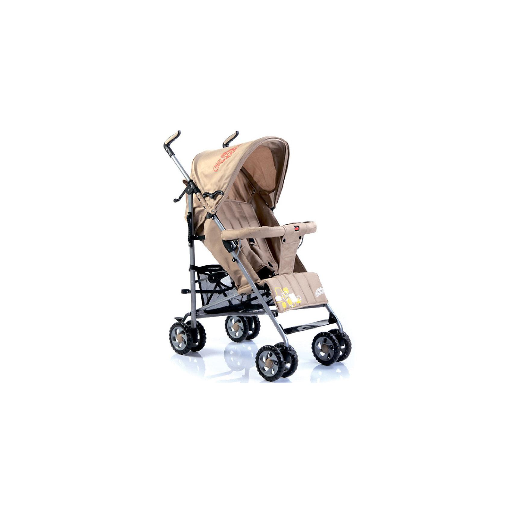 Коляска-трость CityStyle, Baby Care, бежевыйХарактеристики коляски-трости CityStyle Baby Care:<br><br>• спинка коляски регулируется плавно, несколько положений;<br>• имеются 5-ти точечные ремни безопасности;<br>• имеется бампер и мягкий разделитель для ножек;<br>• капюшон оснащен солнцезащитным козырьком;<br>• чехлы прогулочного блока съемные, стираются при температуре 30 градусов.<br><br>Характеристики шасси коляски CityStyle Baby Care:<br><br>• тип складывания: трость;<br>• материал рамы: алюминий;<br>• сдвоенные колеса, передние поворотные;<br>• фиксатор от раскладывания, механический крючок;<br>• сетчатая корзина для покупок;<br>• стояночный ножной тормоз.<br><br>Размеры коляски:<br><br>• размер в разложенном виде: 50х68х105 см;<br>• вес коляски: 6,2 кг;<br>• ширина сиденья: 34 см;<br>• глубина сиденья: 32 см;<br>• длина спального места: 78 см;<br>• ширина колесной базы: 47 см;<br>• диаметр колес: 15 см;<br>• размер упаковки: 100,5х20х27 см;<br>• вес упаковки: 7,5 кг.<br><br>Коляска-трость предназначена для детей в возрасте от 7 месяцев до 3-х лет. Легкая и маневренная прогулочная коляска подходит для путешествий. Наклон спинки коляски плавно регулируется 5 положениях. Коляска оснащена страховочным бампером и ремнями безопасности. Глубокий капор защищает малыша от солнечных лучей и небольших осадков. <br><br>Коляску-трость CityStyle, Baby Care, бежевую можно купить в нашем интернет-магазине.<br><br>Ширина мм: 1070<br>Глубина мм: 350<br>Высота мм: 300<br>Вес г: 7400<br>Цвет: бежевый<br>Возраст от месяцев: 6<br>Возраст до месяцев: 48<br>Пол: Унисекс<br>Возраст: Детский<br>SKU: 3534865
