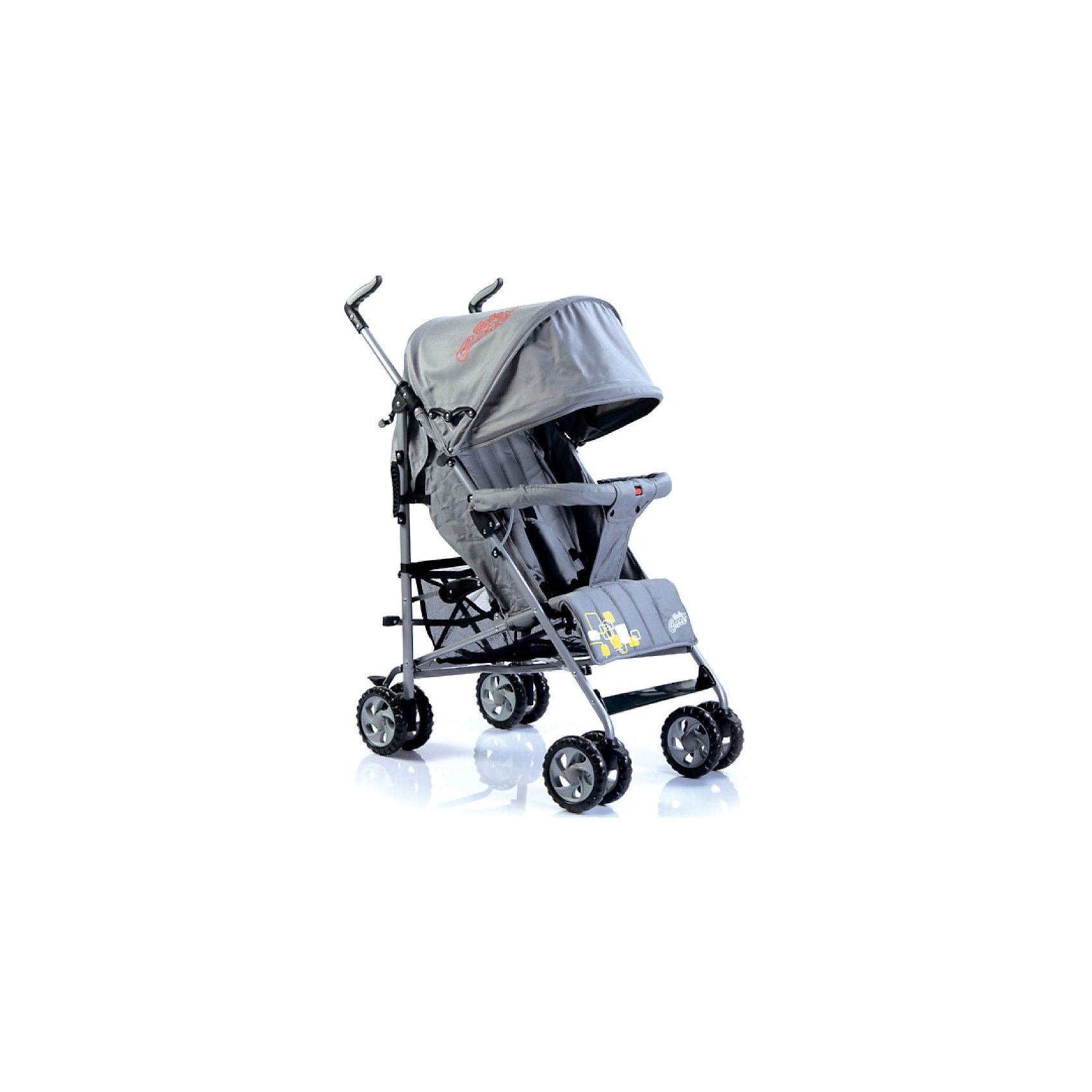 Коляска-трость Baby Care CityStyle, серыйНедорогие коляски<br>Характеристики коляски-трости CityStyle Baby Care:<br><br>• спинка коляски регулируется плавно, несколько положений;<br>• имеются 5-ти точечные ремни безопасности;<br>• имеется бампер и мягкий разделитель для ножек;<br>• капюшон оснащен солнцезащитным козырьком;<br>• чехлы прогулочного блока съемные, стираются при температуре 30 градусов.<br><br>Характеристики шасси коляски CityStyle Baby Care:<br><br>• тип складывания: трость;<br>• материал рамы: алюминий;<br>• сдвоенные колеса, передние поворотные;<br>• фиксатор от раскладывания, механический крючок;<br>• сетчатая корзина для покупок;<br>• стояночный ножной тормоз.<br><br>Размеры коляски:<br><br>• размер в разложенном виде: 50х68х105 см;<br>• вес коляски: 6,2 кг;<br>• ширина сиденья: 34 см;<br>• глубина сиденья: 32 см;<br>• длина спального места: 78 см;<br>• ширина колесной базы: 47 см;<br>• диаметр колес: 15 см;<br>• размер упаковки: 100,5х20х27 см;<br>• вес упаковки: 7,5 кг.<br><br>Коляска-трость предназначена для детей в возрасте от 7 месяцев до 3-х лет. Легкая и маневренная прогулочная коляска подходит для путешествий. Наклон спинки коляски плавно регулируется 5 положениях. Коляска оснащена страховочным бампером и ремнями безопасности. Глубокий капор защищает малыша от солнечных лучей и небольших осадков. <br><br>Коляску-трость CityStyle, Baby Care, серую можно купить в нашем интернет-магазине.<br><br>Ширина мм: 1070<br>Глубина мм: 350<br>Высота мм: 300<br>Вес г: 7400<br>Цвет: серый<br>Возраст от месяцев: 6<br>Возраст до месяцев: 48<br>Пол: Унисекс<br>Возраст: Детский<br>SKU: 3534867