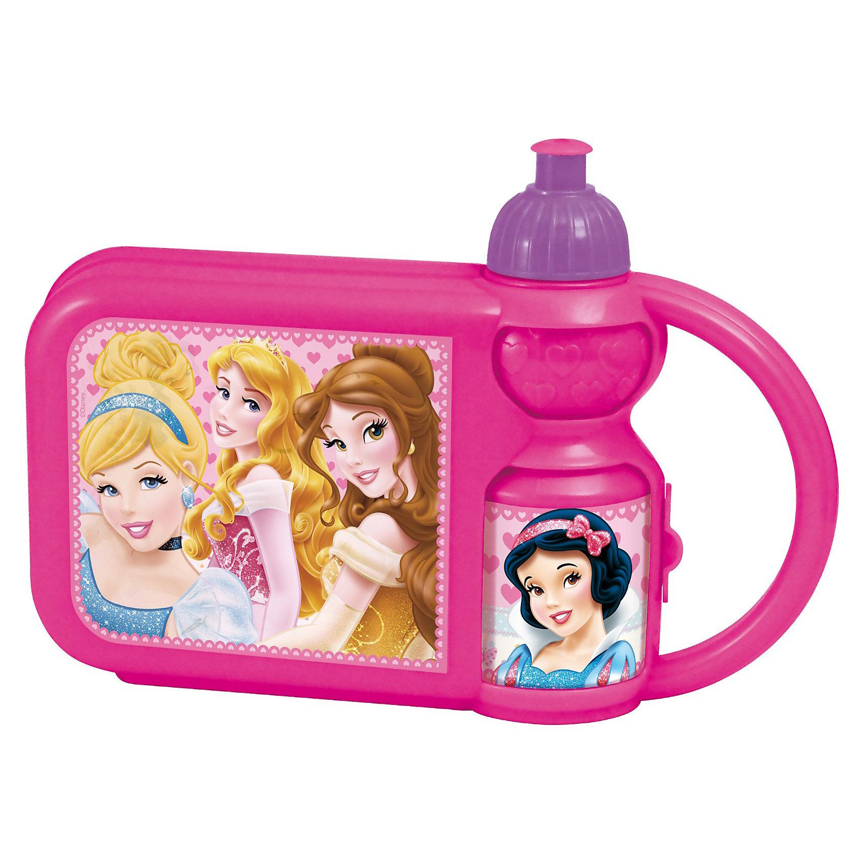 Контейнер для бутербродов с бутылкой (Золушка), ПринцессыКонтейнер для бутербродов с бутылкой (Золушка), Принцессы – замечательно подойдет для школьных завтраков, и будет незаменим в путешествиях.<br>Контейнер для бутербродов с бутылочкой украшенные изображением диснеевских принцесс не оставит равнодушным вашу девочку и будут радовать ее при каждом использовании. В контейнер очень удобно сложить не только бутерброды, но и другую еду. Надежная крышка с защелками исключит выпадение содержимого. Питьевая бутылочка сочетает в себе практичность и непревзойденный стиль. Малышка без труда сможет открывать и закрывать крышку, которая предотвратит проливание напитков. Набор изготовлен из высококачественного нетоксичного пищевого пластика.<br><br>Дополнительная информация:<br><br>- В комплекте: контейнер для бутербродов, бутылка<br>- Материал: пищевой пластик<br>- Размер: 26х13,5х7 см.<br>- Объем бутылки: 350 мл.<br>- Высота бутылки: 18,5 см.<br>- Диаметр бутылки по дну: 6 см.<br>- Не рекомендуется использовать для разогревания пищи в микроволновой печи, а также мыть в посудомоечной машине<br>- Избегайте наливания очень горячих напитков в бутылку<br><br>Контейнер для бутербродов с бутылкой (Золушка), Принцессы можно купить в нашем интернет-магазине.<br><br>Ширина мм: 270<br>Глубина мм: 75<br>Высота мм: 187<br>Вес г: 208<br>Возраст от месяцев: 48<br>Возраст до месяцев: 84<br>Пол: Женский<br>Возраст: Детский<br>SKU: 3535381