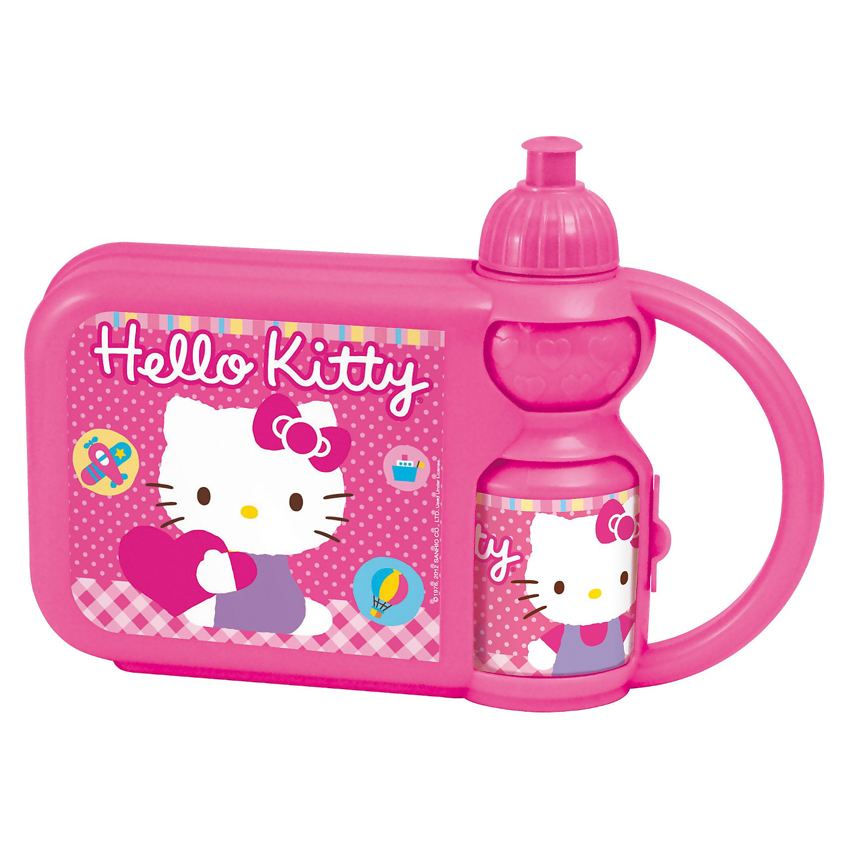 Контейнер для бутербродов с бутылкой, Hello Kitty