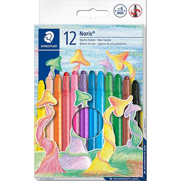 Мелки восковые NorisClub, d = 6 мм, 12 цв.Письменные принадлежности<br>Замечательный набор восковых мелков NorisClub от Staedtler идеально подойдет для творчества детей любого возраста. Восковые мелки NorisClub с высоким содержанием<br>натурального пчелиного воска удобно держать в руках, отличаются насыщенными яркими цветами, мягкостью и плавностью при рисовании. Мелки обернуты в защитный бумажный рукав, водонепроницаемые и  ударопрочные. Рисование возможно на белой, цветной и даже на черной бумаге.<br><br>Дополнительная информация:<br><br>- В комплекте: 12 цветов.<br>- Диаметр мелков: 6 мм.<br>- Размер упаковки: 20,4 x 13 x 1,5 см.<br>- Вес: 140 гр.<br><br>Рисование мелками способствует развитию мелкой моторики рук, внимания, творческих и художественных способностей ребенка.<br><br>Набор восковых мелков NorisClub от Staedtler можно купить в нашем интернет-магазине.<br>Ширина мм: 200; Глубина мм: 130; Высота мм: 12; Вес г: 148; Возраст от месяцев: 48; Возраст до месяцев: 120; Пол: Унисекс; Возраст: Детский; SKU: 3535542;