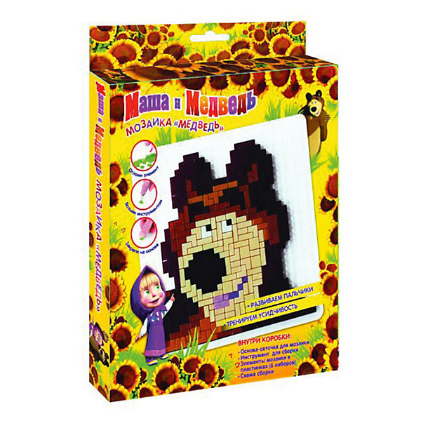 Мозаика Медведь, маленькая, Маша и МедведьМаша и Медведь<br>Мозаика для малыша это не только игрушка, которая увлекает, но еще и развивающее занятие для маленьких пальчиков, а значит и для развития речи крохи. Мозаика учит усидчивости, внимательности и даже фантазии.<br>Мозаику любят все, и все малыши готовы играть с ней. Научите кроху играть, проводите время вместе, создавая свои неповторимые узоры и фигуры. Создай необычный портрет любимого героя с мозаикой Медведь, маленькая, Маша и Медведь! Немного терпения и внимательности, и у Вас готова настоящая мозаичная картина с портретом Медведя! Вы можете использовать ее для украшения комнаты!<br>Ваш малыш с удовольствием будет собирать портрет любимого героя!<br><br>Дополнительная информация: <br><br>- лучший подарок малышу любителю мультфильма: Маша и Медведь;<br>- в наборе: основа (14,3 х 14,3см), набор из пластиковых элементов, инструмент для сборки, схема сборки;<br>- мозаика развивает мелкую моторику, образное мышление, воображение;<br>- маленький формат: удобно брать с собой;<br>- материал: пластик;<br>- размер упаковки: 18 х 16 х 2 см;<br>- вес: 120  г.<br><br>Мозаику Медведь, маленькую, Маша и Медведь  можно купить в нашем интернет-магазине.<br>Ширина мм: 180; Глубина мм: 160; Высота мм: 20; Вес г: 120; Возраст от месяцев: 36; Возраст до месяцев: 72; Пол: Женский; Возраст: Детский; SKU: 3536276;