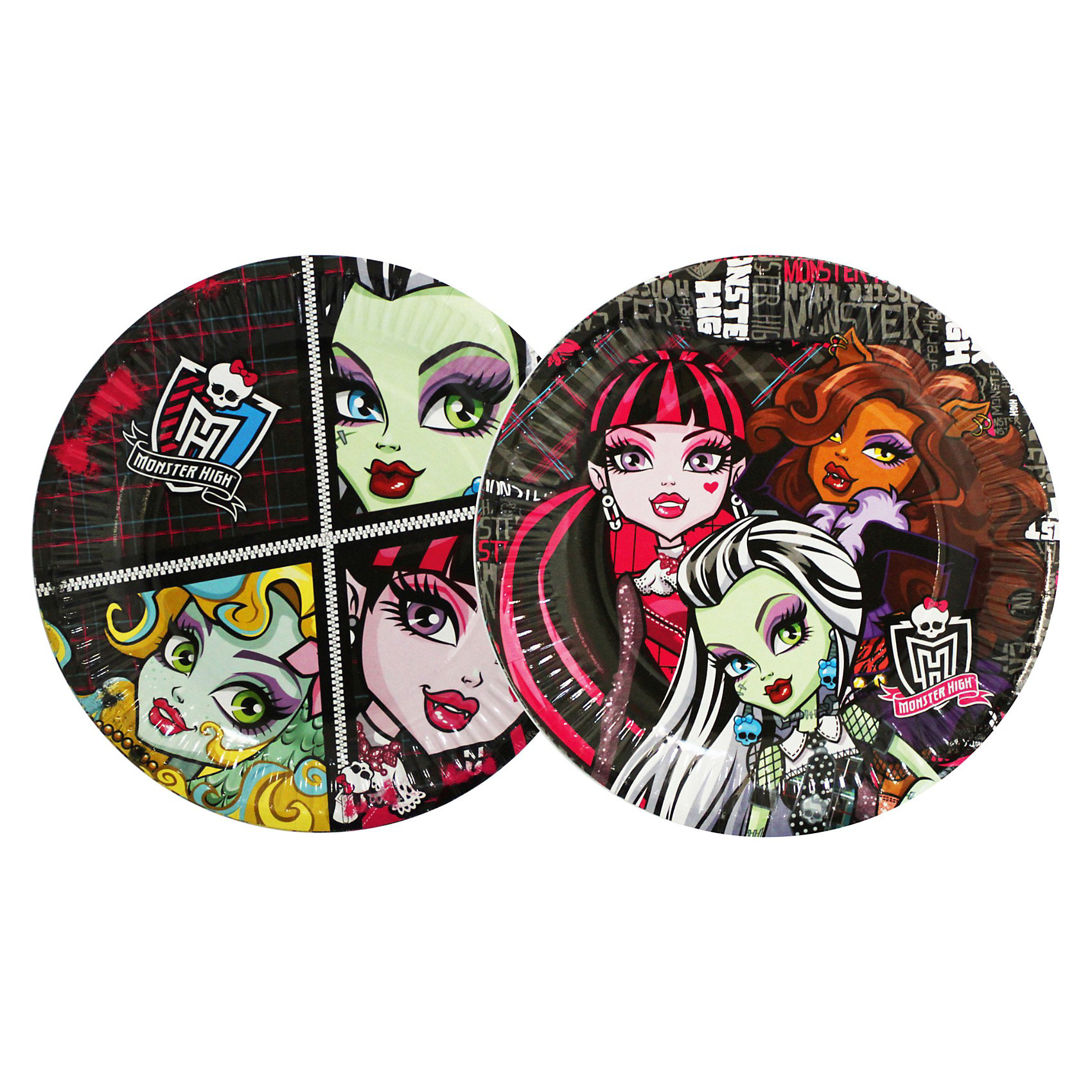 Росмэн Тарелка бумажная, 18см, 10шт, Monster High росмэн наклейки 2 monster high