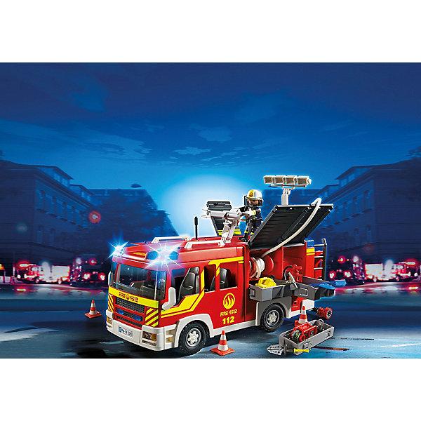 Пожарная машина со светом и звуком, PLAYMOBILИдеи подарков<br>Конструктор PLAYMOBIL (Плеймобил) 5363 Пожарная служба: Пожарная машина со светом и звуком - находка для заботливых родителей! Конструктор Вашего ребенка должен быть именно таким: красочным, безопасным и очень интересным. Серия Пожарная служба специально создана для малышей которые не боятся опасности и мечтают помогать другим людям. Пожарные - самая отважная профессия! Настоящий пожарный должен быть смелым, сильным и очень ловким. В наборе Пожарная машина со светом и звуком ребенок найдет фигурку пожарного, одетого в специальную форму, каску и перчатки. Он легко управляет большой пожарной машиной, которая оборудована по последнему слову техники. Две мигалки помогают оказаться на месте возгорания за считанные минуты. Пожарный быстро расставляет конусы, разматывает шланги и направляет брандспойт на горящее здание. В машине множество инструментов, которые могут оказаться полезными если что-то пойдет не по плану. Создай интересные сюжеты с набором Пожарная машина со светом и звуком или объедини его с другими наборами серии и игра станет еще интереснее. Придумывая замечательные сюжеты с деталями конструктора, Ваш ребенок развивает фантазию, учится заботе и просто прекрасно проводит время!<br><br>Дополнительная информация:<br><br>- Конструкторы PLAYMOBIL (Плеймобил) отлично развивают мелкую моторику, фантазию и воображение;<br>- В наборе: минифигурка пожарного, пожарная машина, огнетушитель, лопата, веревка, инструменты, аксессуары;<br>- Количество деталей: 120 шт;<br>- Материал: безопасный пластик;<br>- Для работы необходимы 2 батарейки типа ААА (не в комплекте);<br>- Размер минифигурки: 7,5 см;<br>- Размер упаковки: 13 х 28 х 17 см<br><br>Конструктор PLAYMOBIL (Плеймобил) 5363 Пожарная служба: Пожарная машина со светом и звуком можно купить в нашем интернет-магазине.<br><br>Ширина мм: 354<br>Глубина мм: 248<br>Высота мм: 144<br>Вес г: 1217<br>Возраст от месяцев: 60<br>Возраст до месяцев: 120<br>Пол: Мужской<
