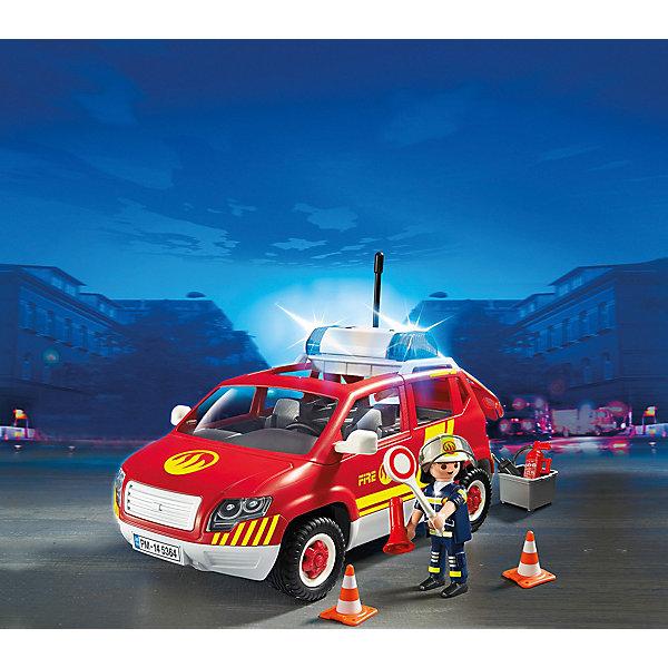 PLAYMOBIL 5364 Пожарная служба: Пожарная машина командира со светом и звукомПластмассовые конструкторы<br>Конструктор PLAYMOBIL (Плеймобил) 5364 Пожарная служба: Пожарная машина командира со светом и звуком - находка для заботливых родителей! Конструктор Вашего ребенка должен быть именно таким: красочным, безопасным и очень интересным. Серия Пожарная служба специально создана для малышей которые не боятся опасности и мечтают помогать другим людям. Пожарные - самая отважная профессия! Настоящий пожарный должен быть смелым, сильным и очень ловким. В наборе Пожарная машина командира со светом и звуком ребенок найдет фигурку командира пожарной команды, одетого в специальную форму и каску. У него очень важная миссии - он координирует работу около места возгорания. Он отдает четкие приказы в рупор и все машины руководствуются его указаниями. В машине командира множество вещей необходимых при такой важной работе: огнетушитель, инструменты, конусы. Его машина оснащена мигалкой, которая позволяет быстро доезжать до места происшествия. Создай интересные сюжеты с набором Пожарная машина командира со светом и звуком или объедини его с другими наборами серии и игра станет еще интереснее. Придумывая замечательные сюжеты с деталями конструктора, Ваш ребенок развивает фантазию, учится заботе и просто прекрасно проводит время!<br><br>Дополнительная информация:<br><br>- Конструкторы PLAYMOBIL (Плеймобил) отлично развивают мелкую моторику, фантазию и воображение;<br>- В наборе: минифигурка командира, машина со светом и звуком, дорожные конусы, рупор, дорожный знак, огнетушитель, аксессуары;<br>- Количество деталей: 38  шт;<br>- Материал: безопасный пластик;<br>- Размер минифигурок: 7,5 см;<br>- Размер упаковки: 25 х 20 х 13 см<br><br>Конструктор PLAYMOBIL (Плеймобил) 5364 Пожарная служба: Пожарная машина командира со светом и звуком можно купить в нашем интернет-магазине.<br>Ширина мм: 256; Глубина мм: 200; Высота мм: 129; Вес г: 577; Возраст от месяцев: 60; Возраст до месяцев: 120; П