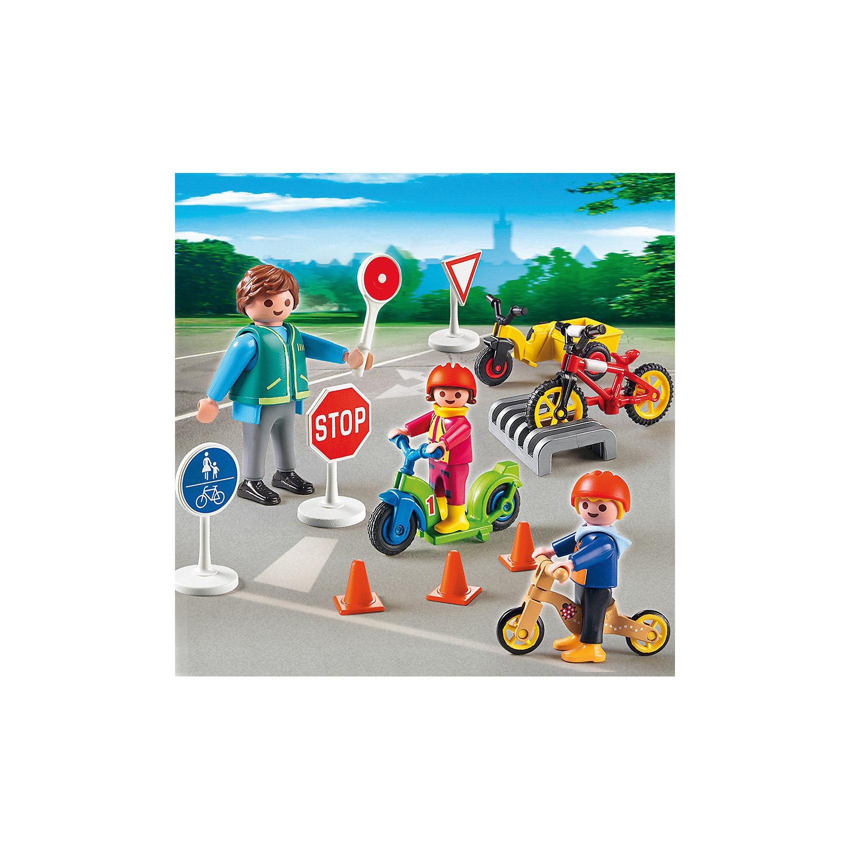 PLAYMOBIL® Дети с воспитателем по ПДД, PLAYMOBIL playmobil 5266 summer fun детский клуб с танц площадкой