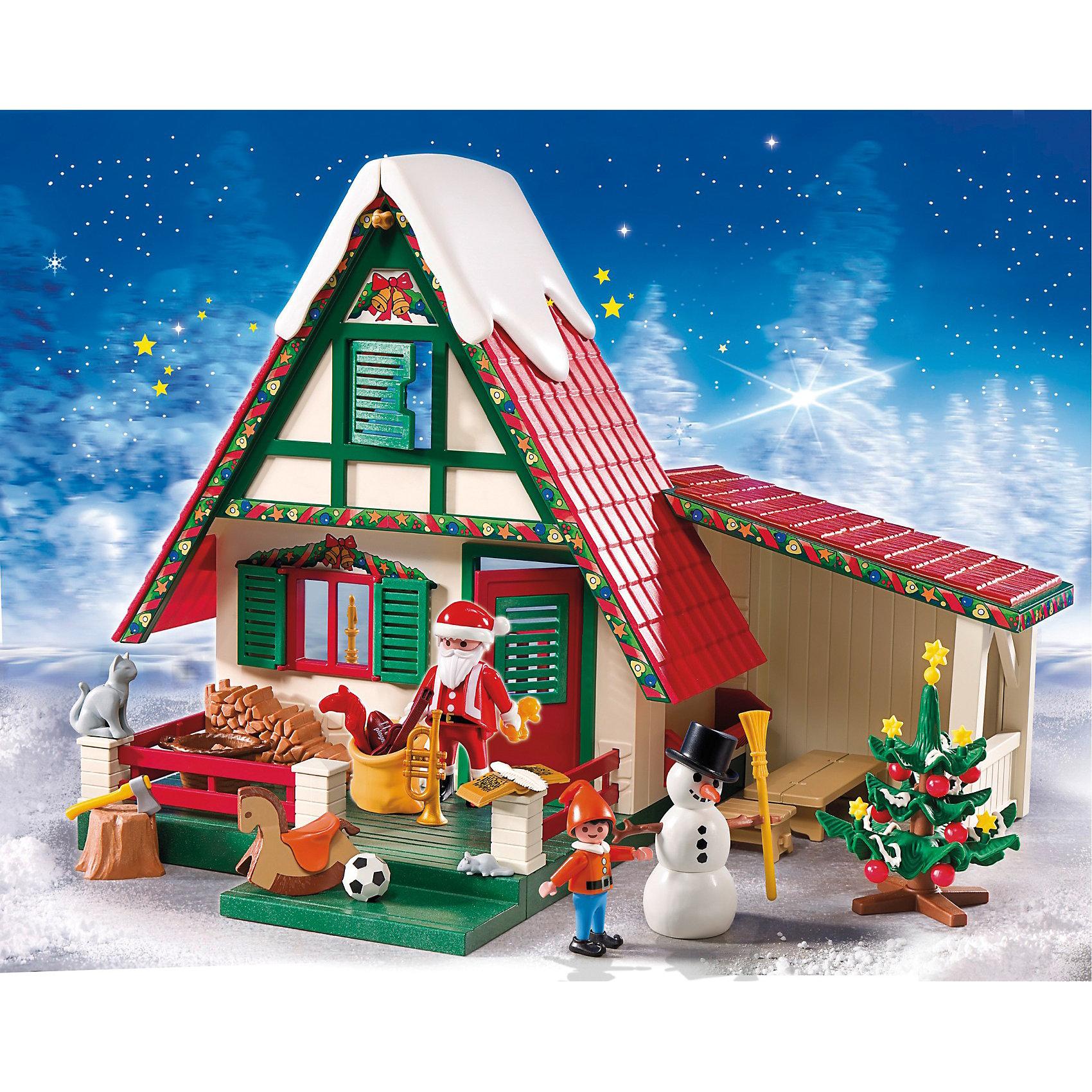 Дом Санта-Клауса, PlaymobilПластмассовые конструкторы<br>Характеристики игрушки:<br><br>• Предназначение: для сюжетно-ролевых игр<br>• Пол: универсальный<br>• Цвет: красный, зеленый, белый<br>• Материал: пластик<br>• Комплектация: 128 предметов<br>• Вес: 540 гр.<br>• Размеры домика: 30 см<br><br>Дом Санта-Клауса, Playmobil – это набор деталей и предметов для сбора домика Санта-Клауса.  Комплект состоит из 128 предметов, среди которых элементы для постройки дома и гаража, предметы интерьера, домашние животные и, конечно же, сам Санта-Клаус и новогодняя елка. Игрушка выполнена из экологически безопасного материала – пластика, все детали окрашены экологически безопасными красками. <br><br>Дом Санта-Клауса, Playmobil подарит не только увлекательные игры в новогодние праздники, но и станет красивым интерьерным украшением к празднику. <br><br>Дом Санта-Клауса, Playmobil можно купить в нашем интернет-магазине.<br><br>Подробнее:<br>Для детей в возрасте: от 4 до 10 лет<br>Номер товара: 3536867<br>Страна производитель: Китай<br><br>Ширина мм: 506<br>Глубина мм: 401<br>Высота мм: 104<br>Вес г: 1396<br>Возраст от месяцев: 48<br>Возраст до месяцев: 120<br>Пол: Унисекс<br>Возраст: Детский<br>SKU: 3536867